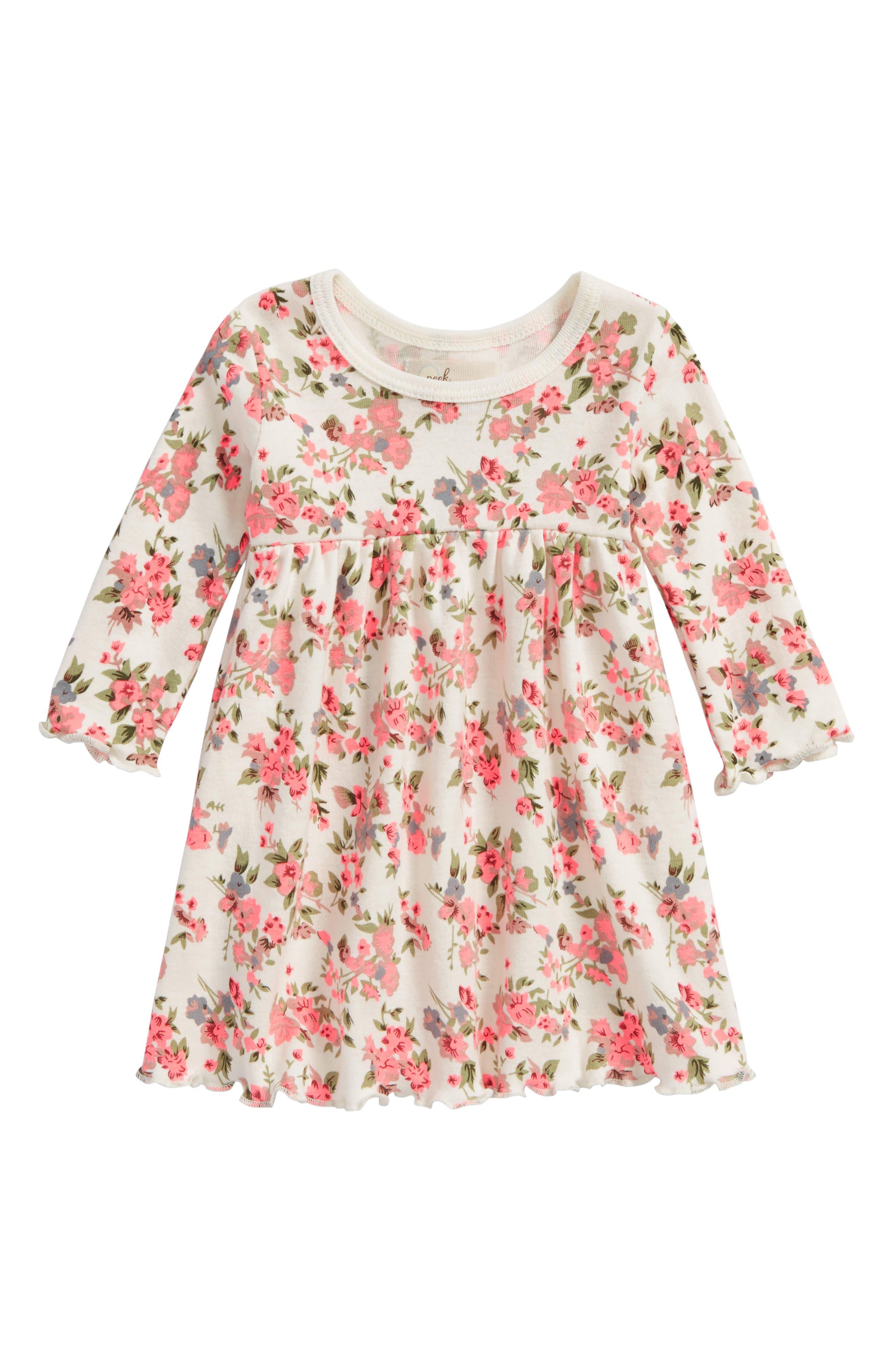 Peek Garden Dress,                         Main,                         color, Ivory