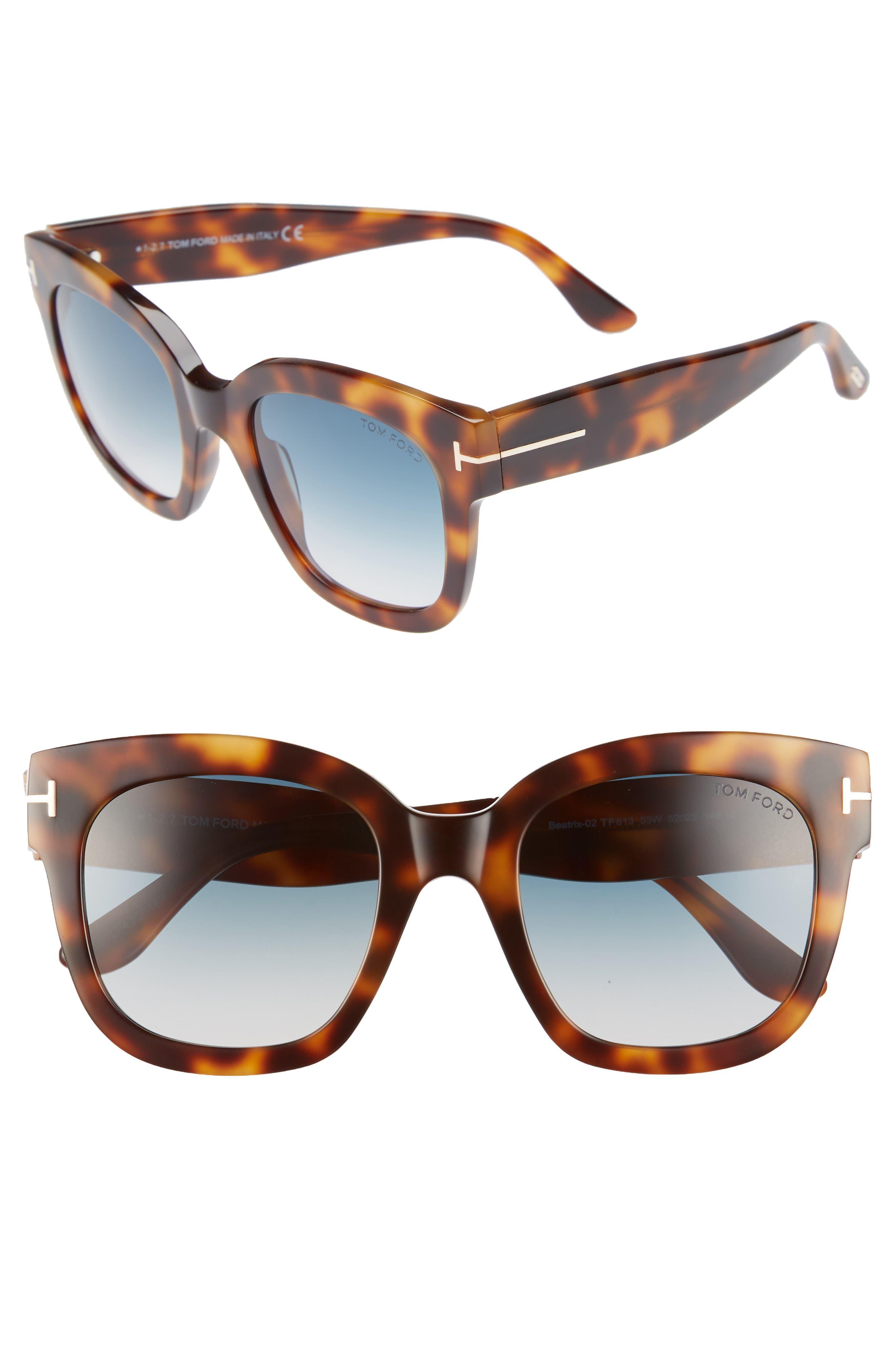 Alternate Image 1 Selected - Tom Ford Beatrix 52mm Sunglasses