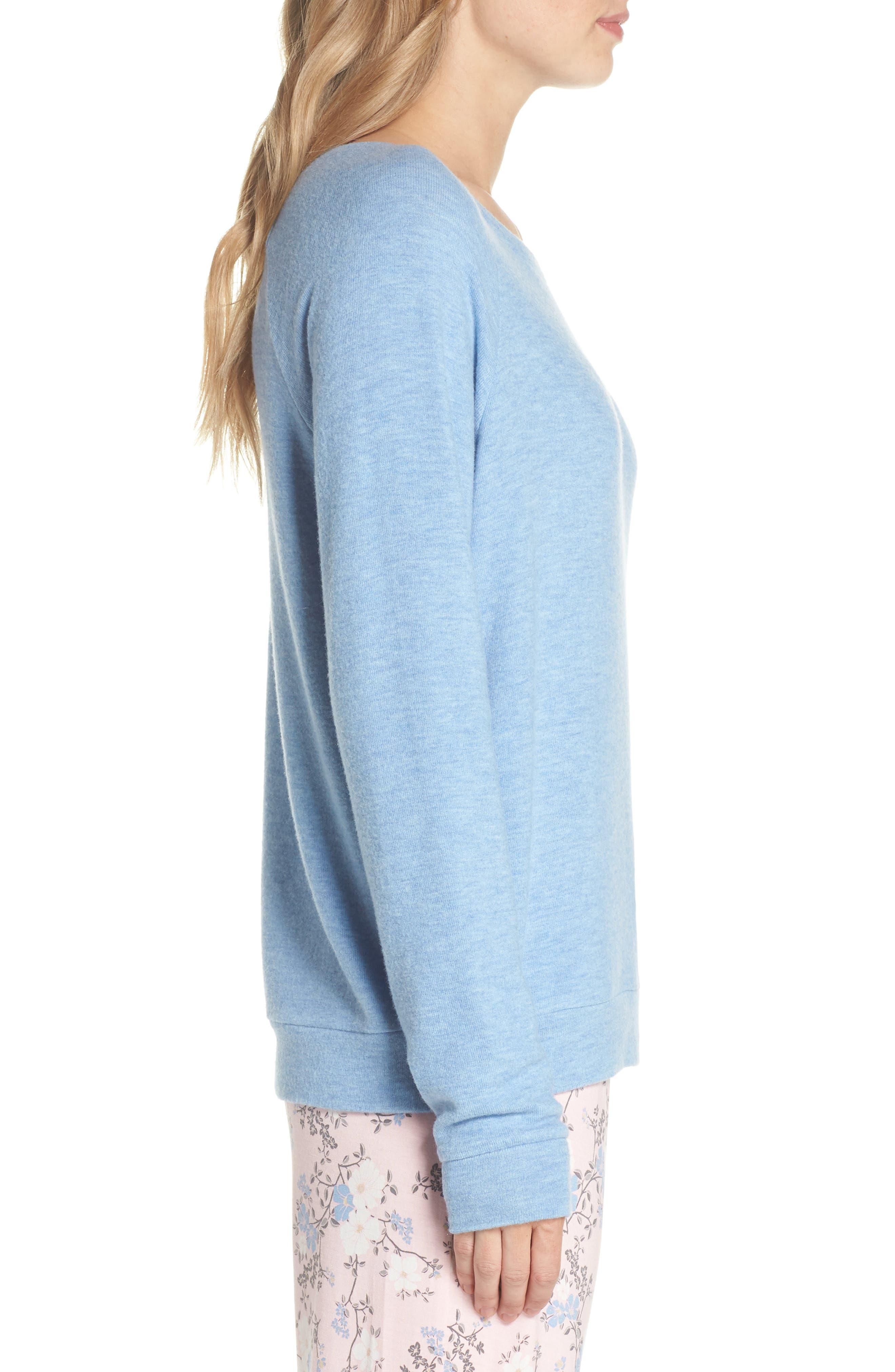 Peachy Pajama Shirt,                             Alternate thumbnail 3, color,                             Blue