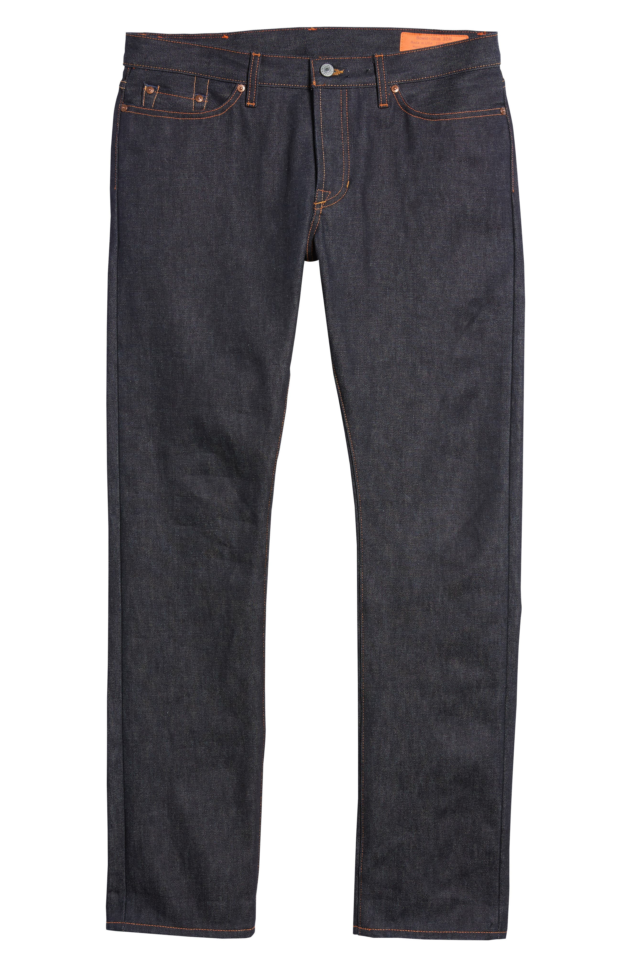 Bowie Slim Straight Leg Jeans,                             Alternate thumbnail 6, color,                             Raw