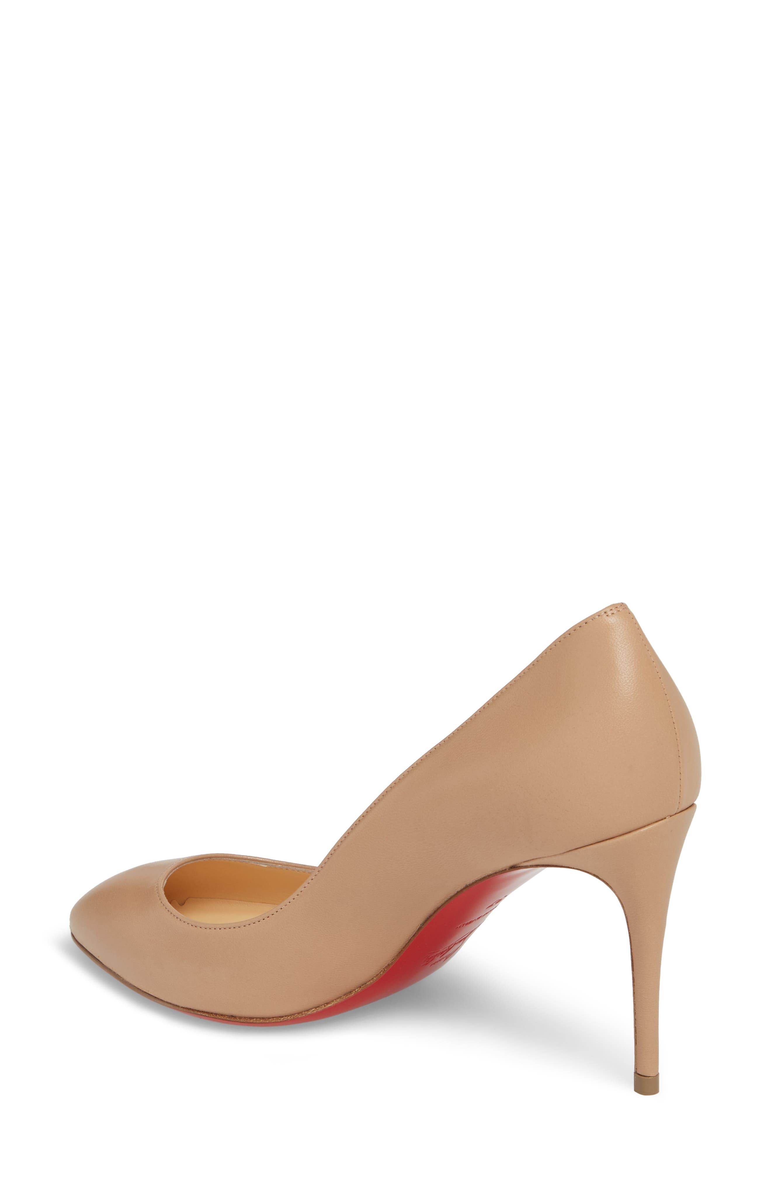 CHRISTIAN LOUBOUTIN ELOISE 85MM NAPA LEATHER RED SOLE PUMPS, NUDE