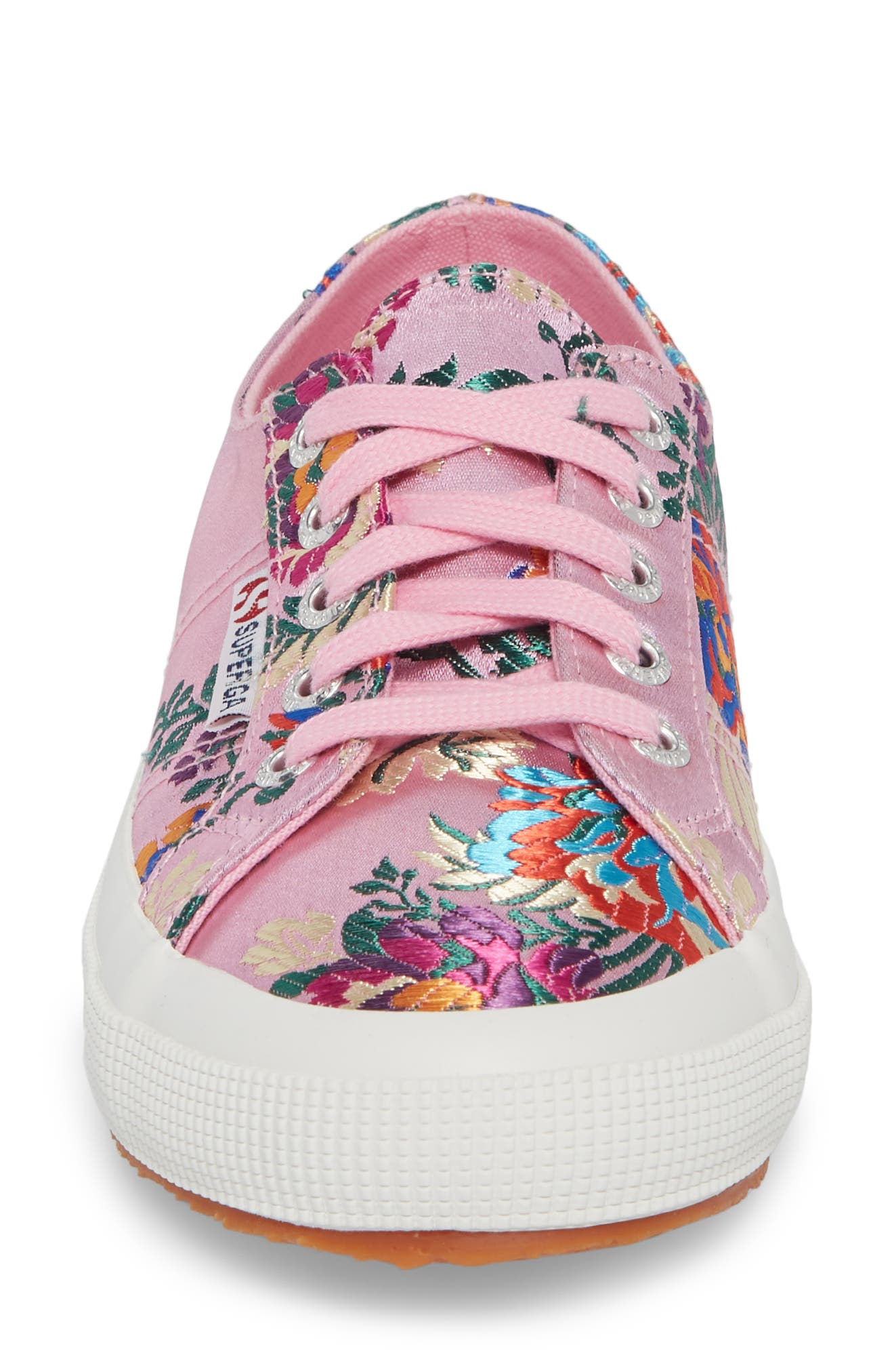 2750 Embroidered Sneaker,                             Alternate thumbnail 4, color,                             Pink