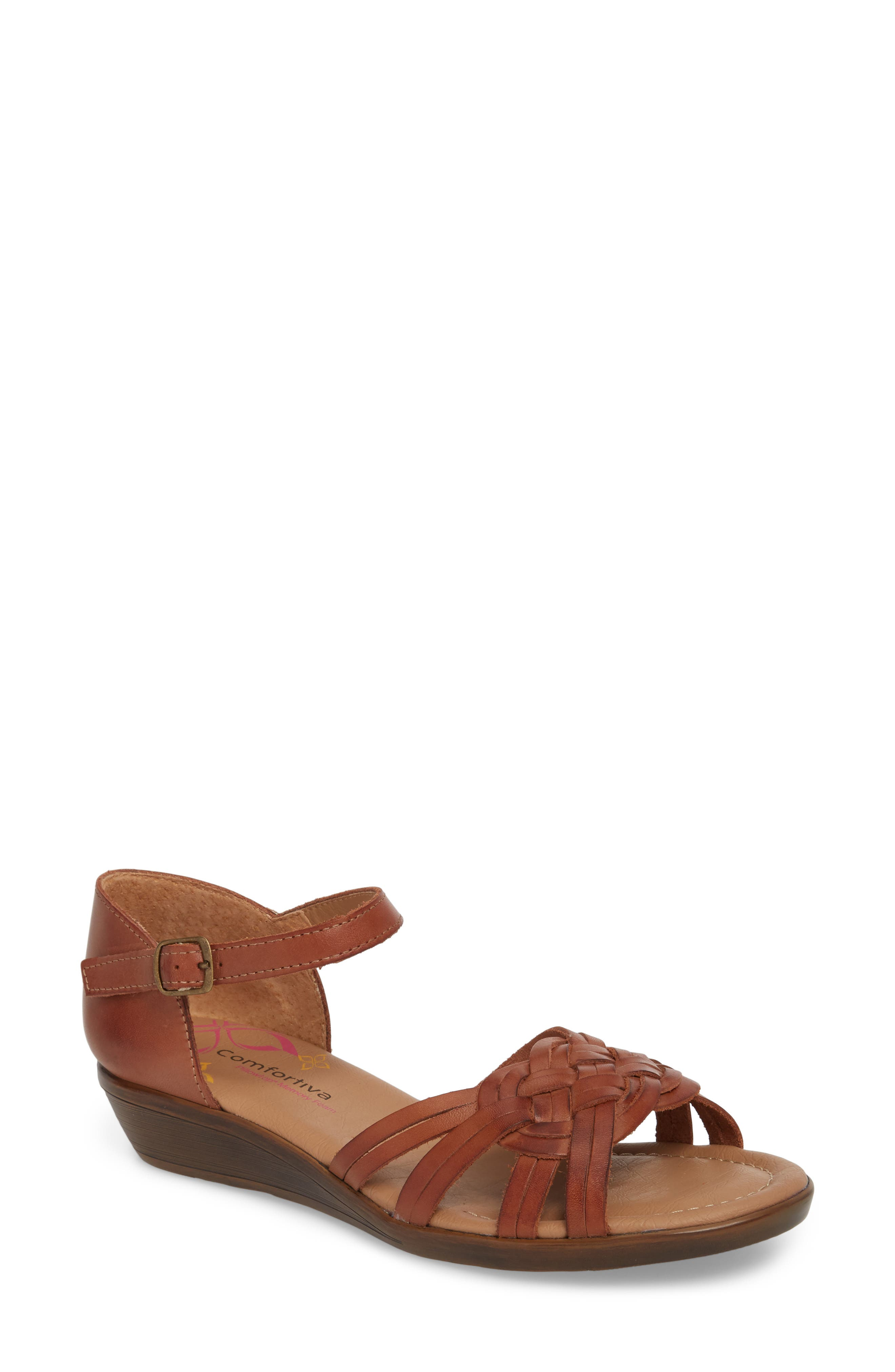 Fortune Sandal,                         Main,                         color, Rust Leather