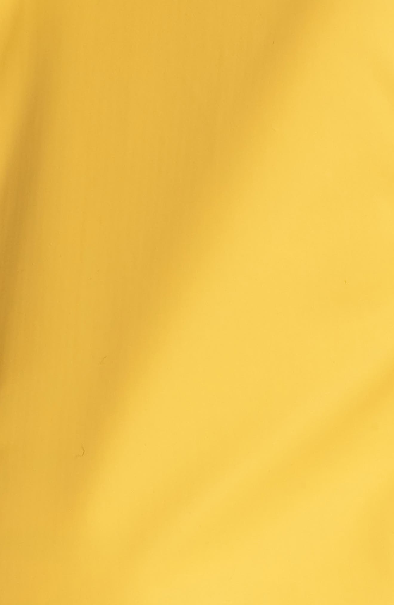 Hooded Raincoat,                             Alternate thumbnail 5, color,                             Yellow