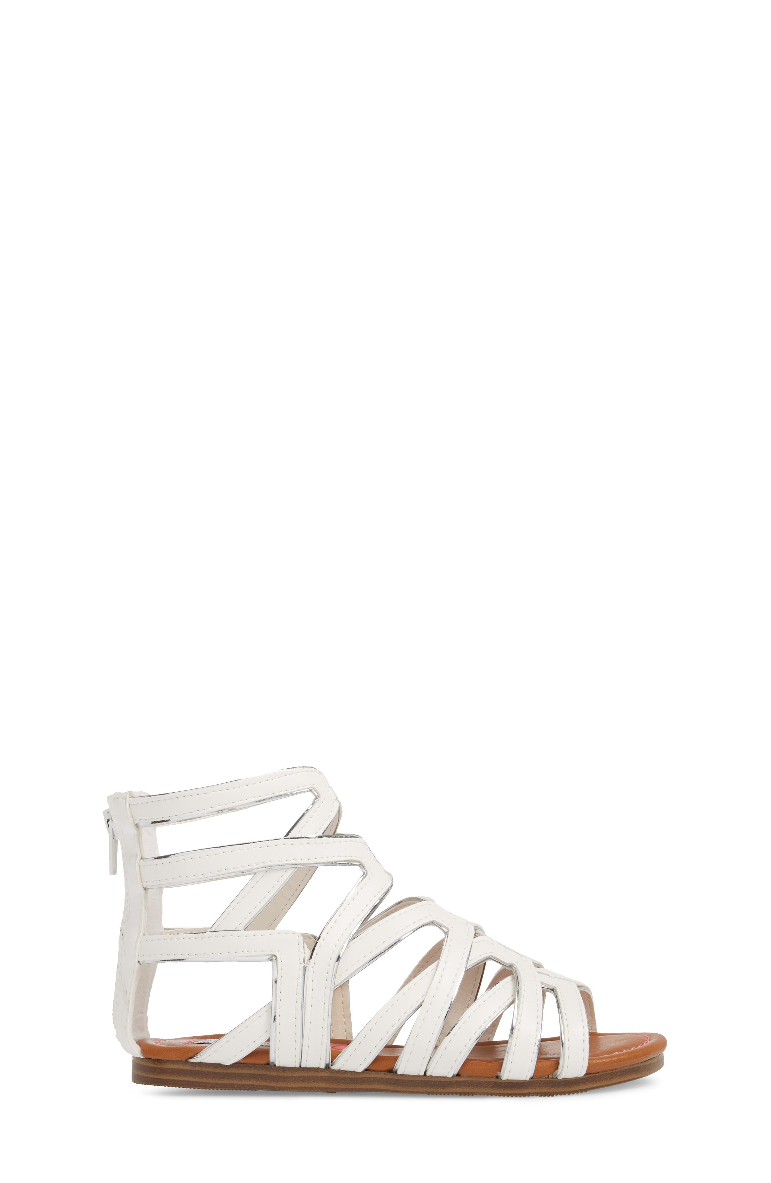 Jessence Gladiator Sandal,                             Alternate thumbnail 3, color,                             White
