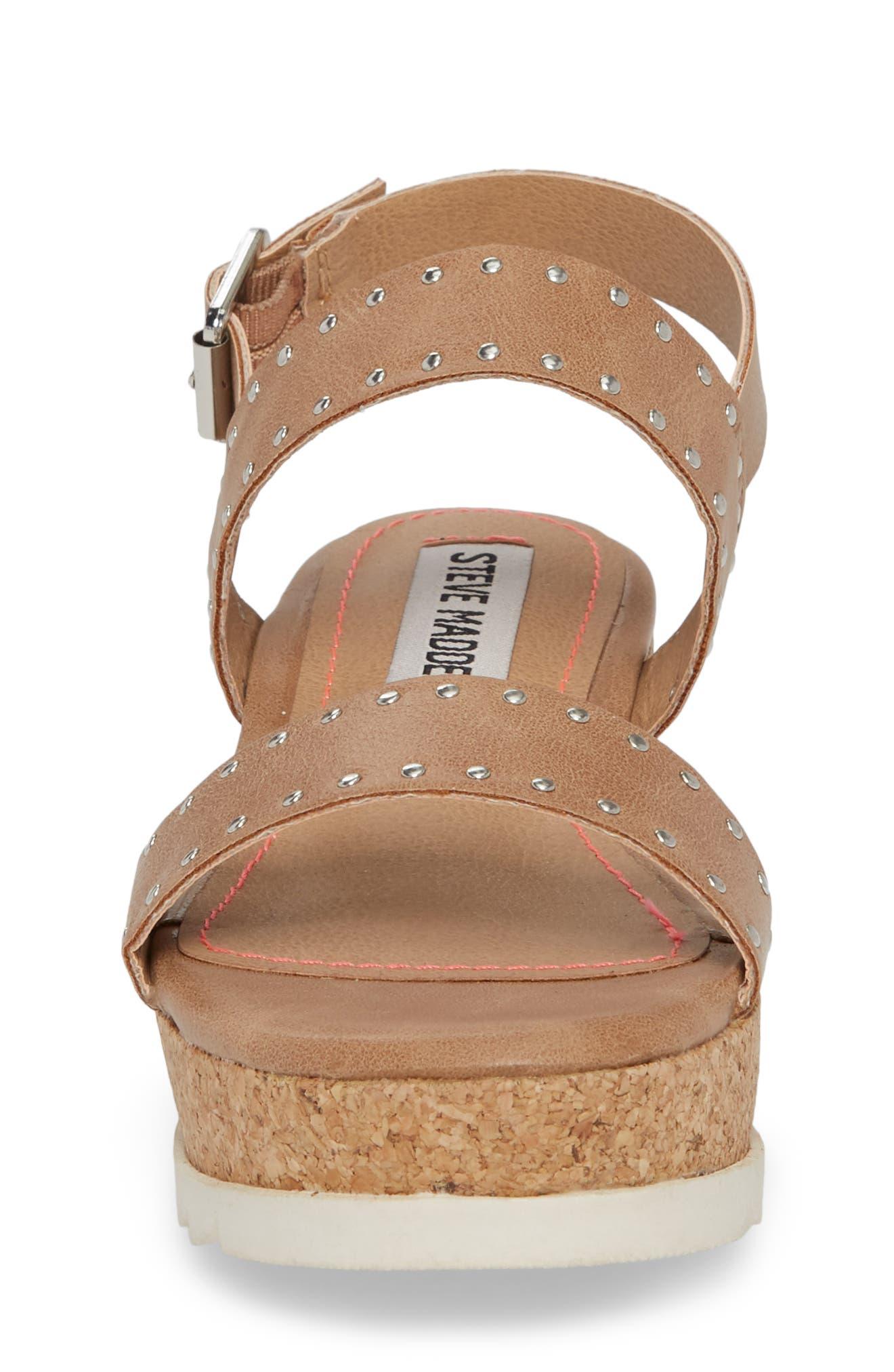 JKRISTIE Platform Sandal,                             Alternate thumbnail 4, color,                             Natural
