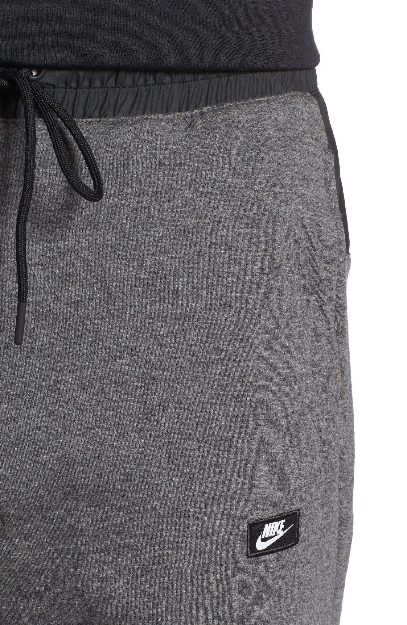 Sportswear Modern Shorts,                             Alternate thumbnail 4, color,                             Charcoal Heather/ Black