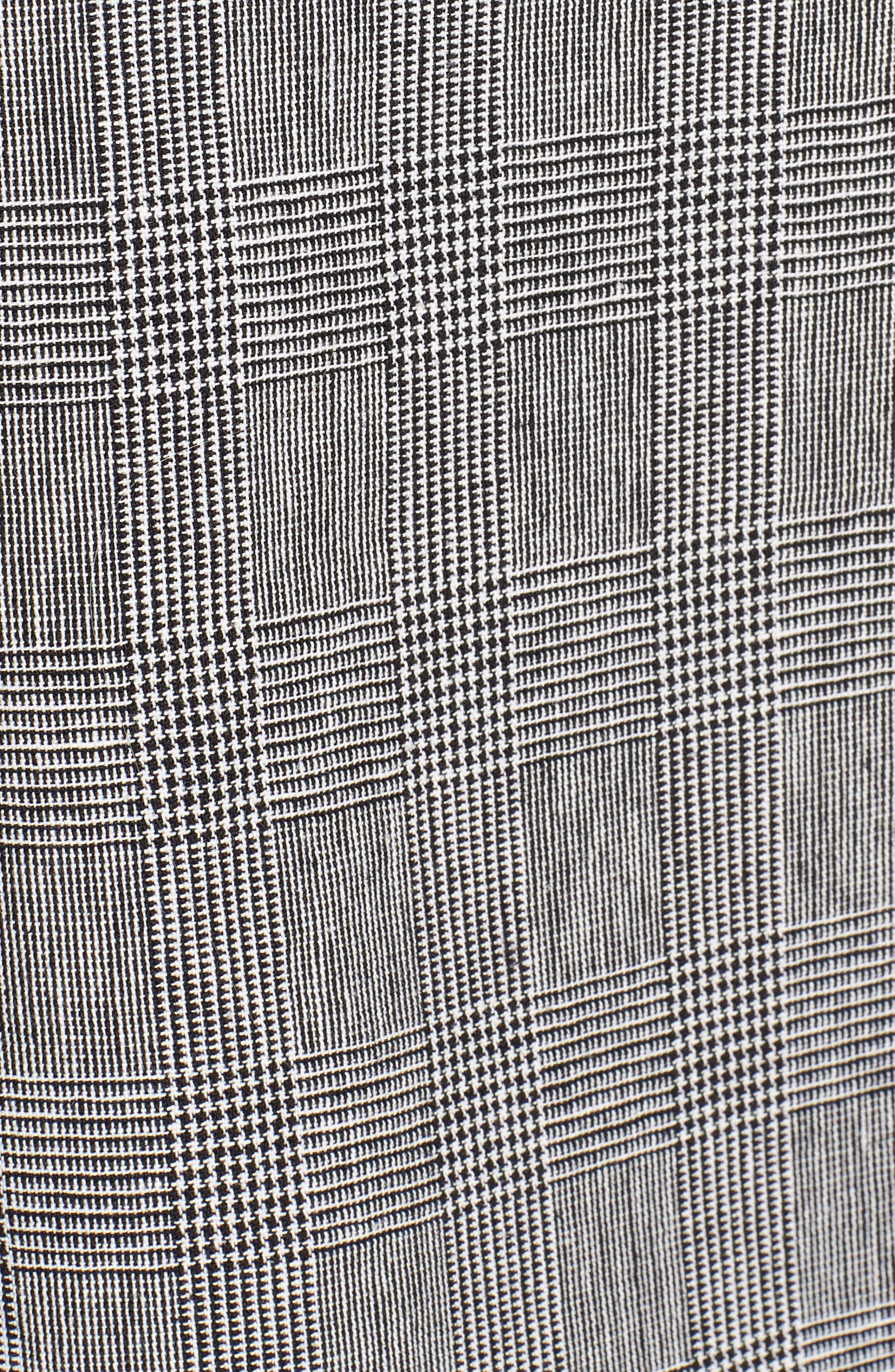 Fran Long Jacket,                             Alternate thumbnail 6, color,                             Black/ White