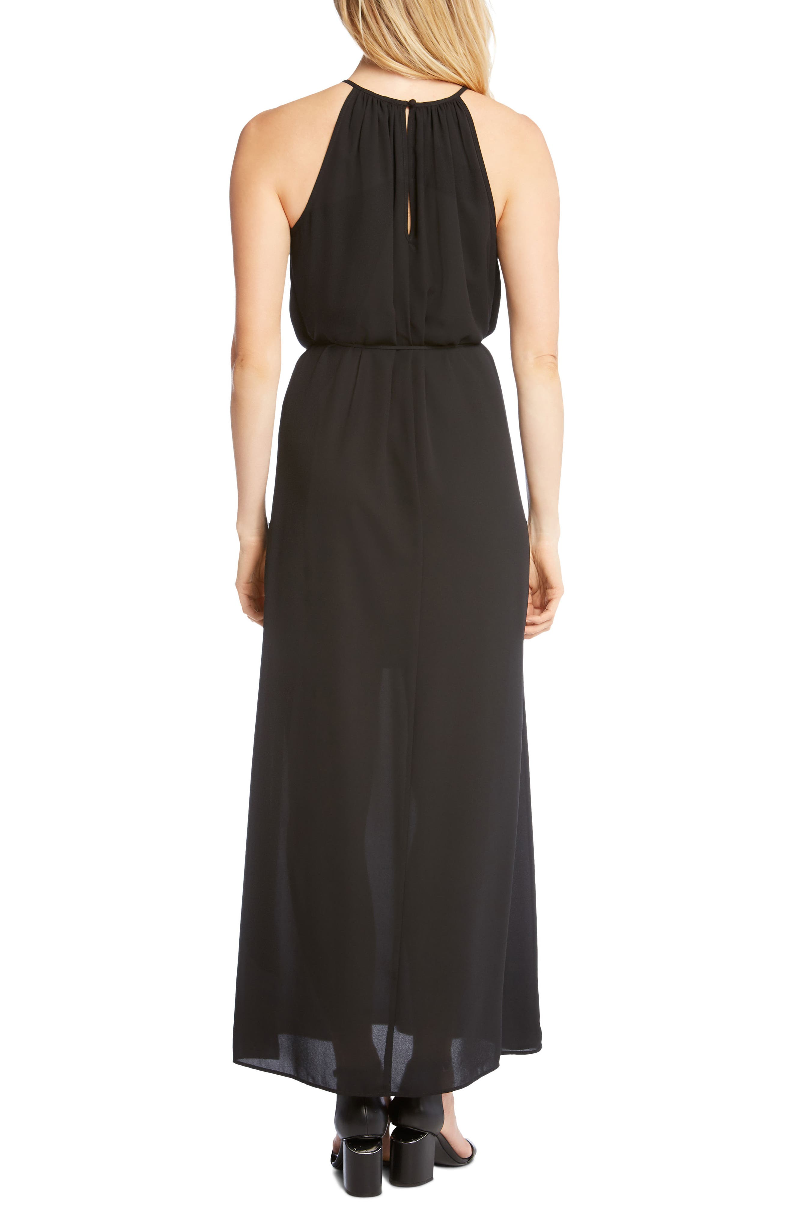 Alternate Image 2  - Karen Kane Morgan Halter Maxi Dress
