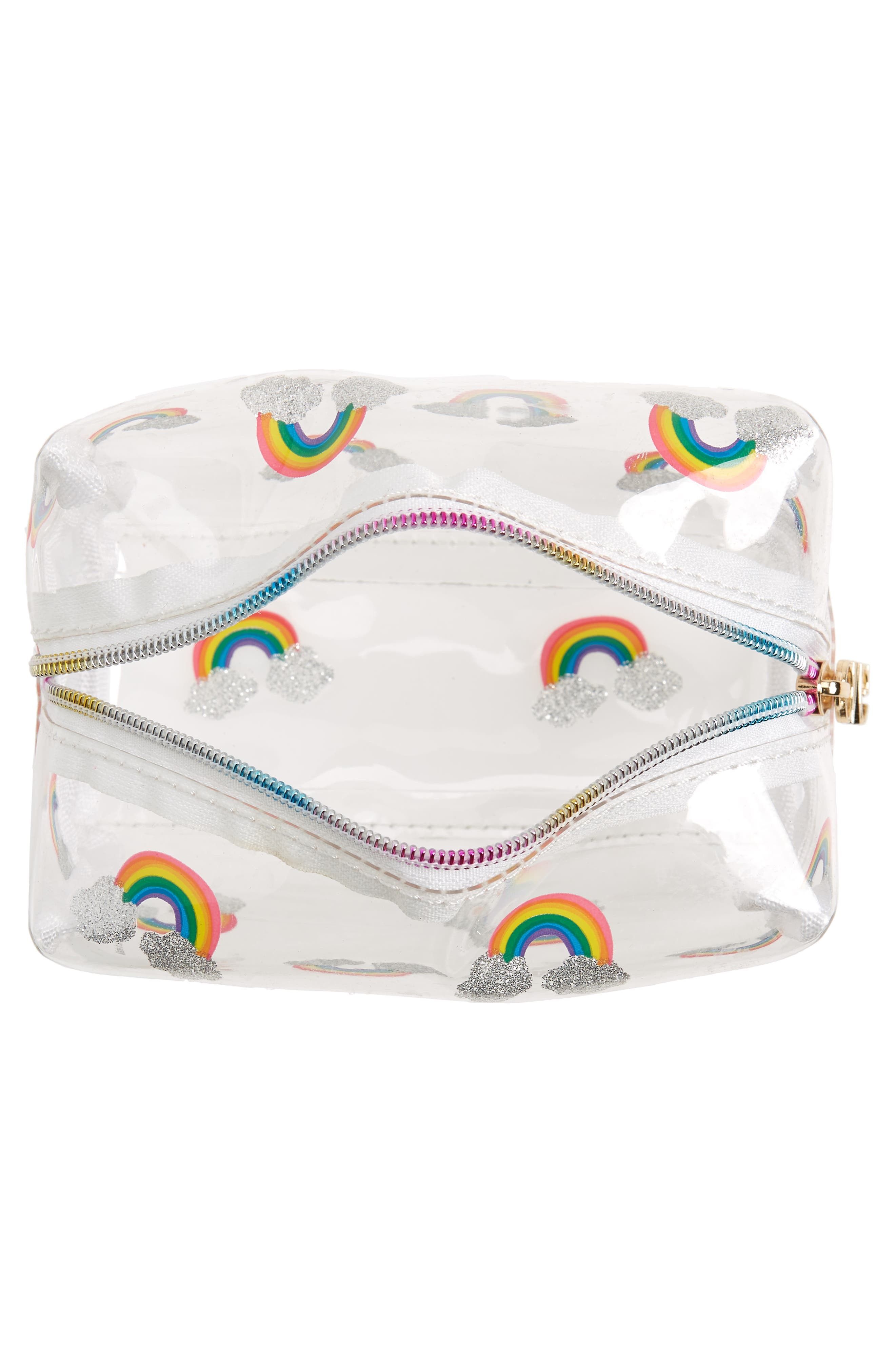 Rainbow Cosmetics Bag,                             Alternate thumbnail 3, color,                             Multi