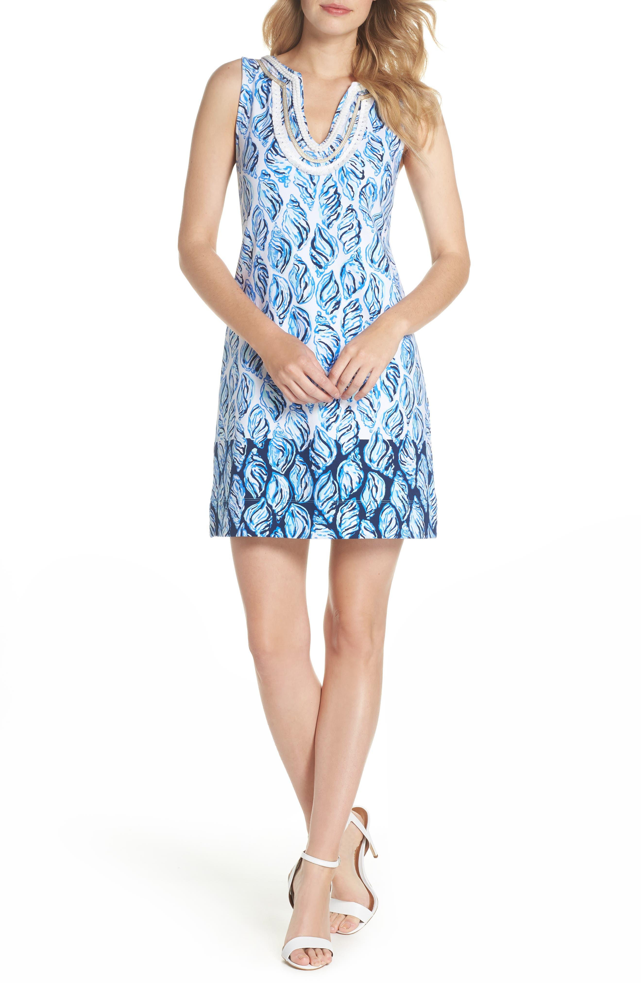 Harper Shift Dress,                             Main thumbnail 1, color,                             Resort White Drop In