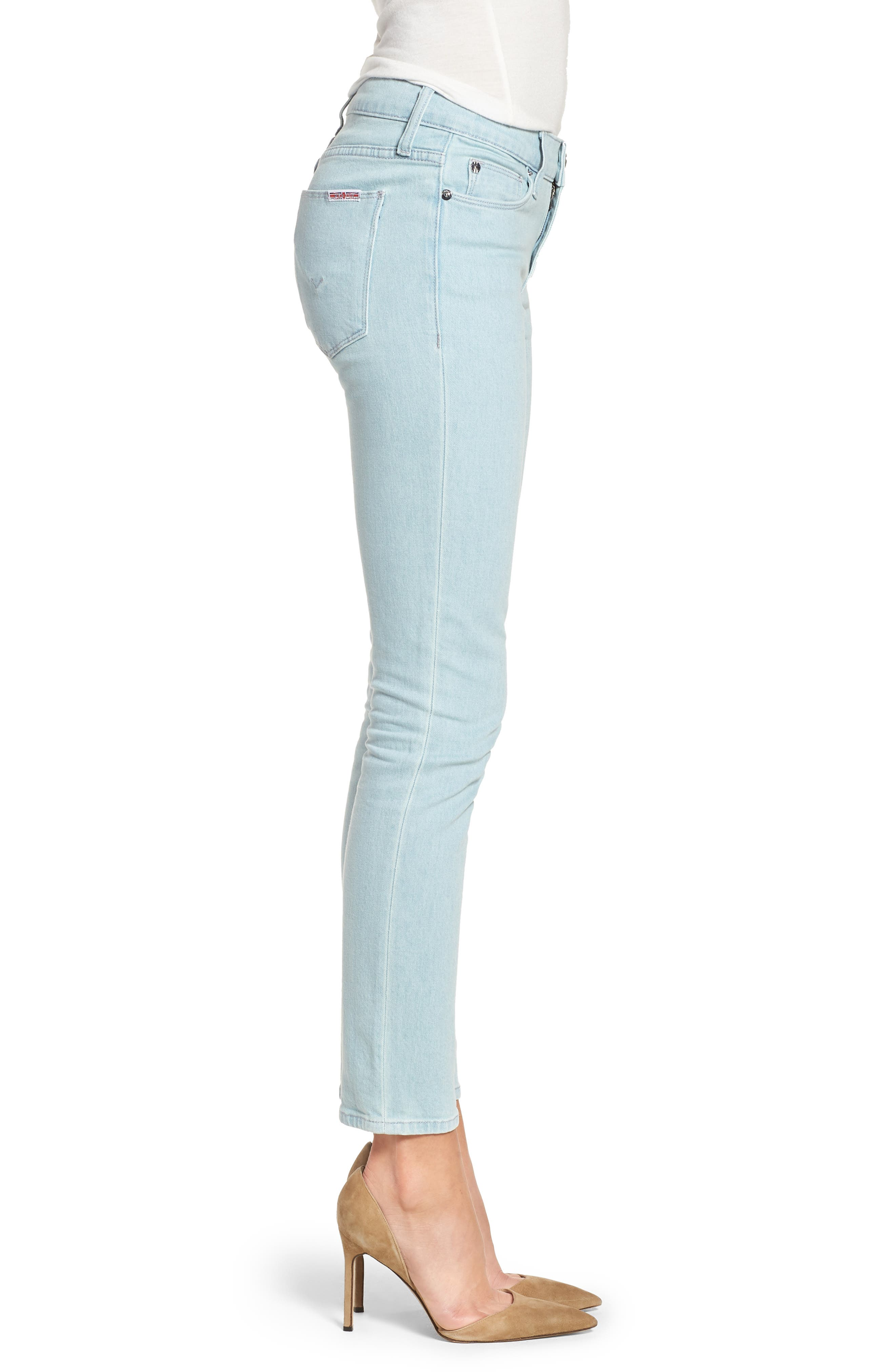 Tally Crop Skinny Jeans,                             Alternate thumbnail 3, color,                             Sage Extract