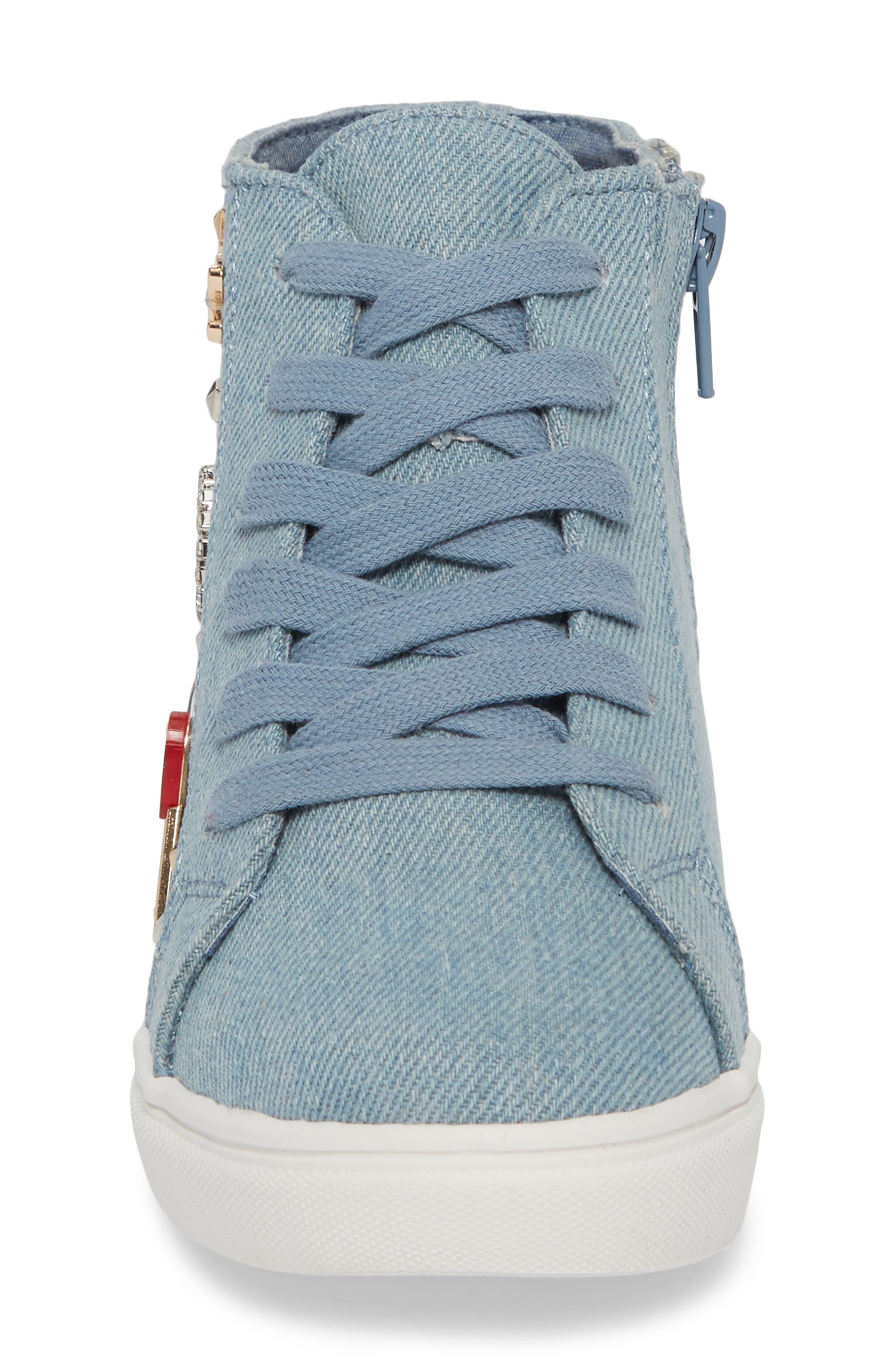 JKOOKIE High Top Sneaker,                             Alternate thumbnail 4, color,                             Denim