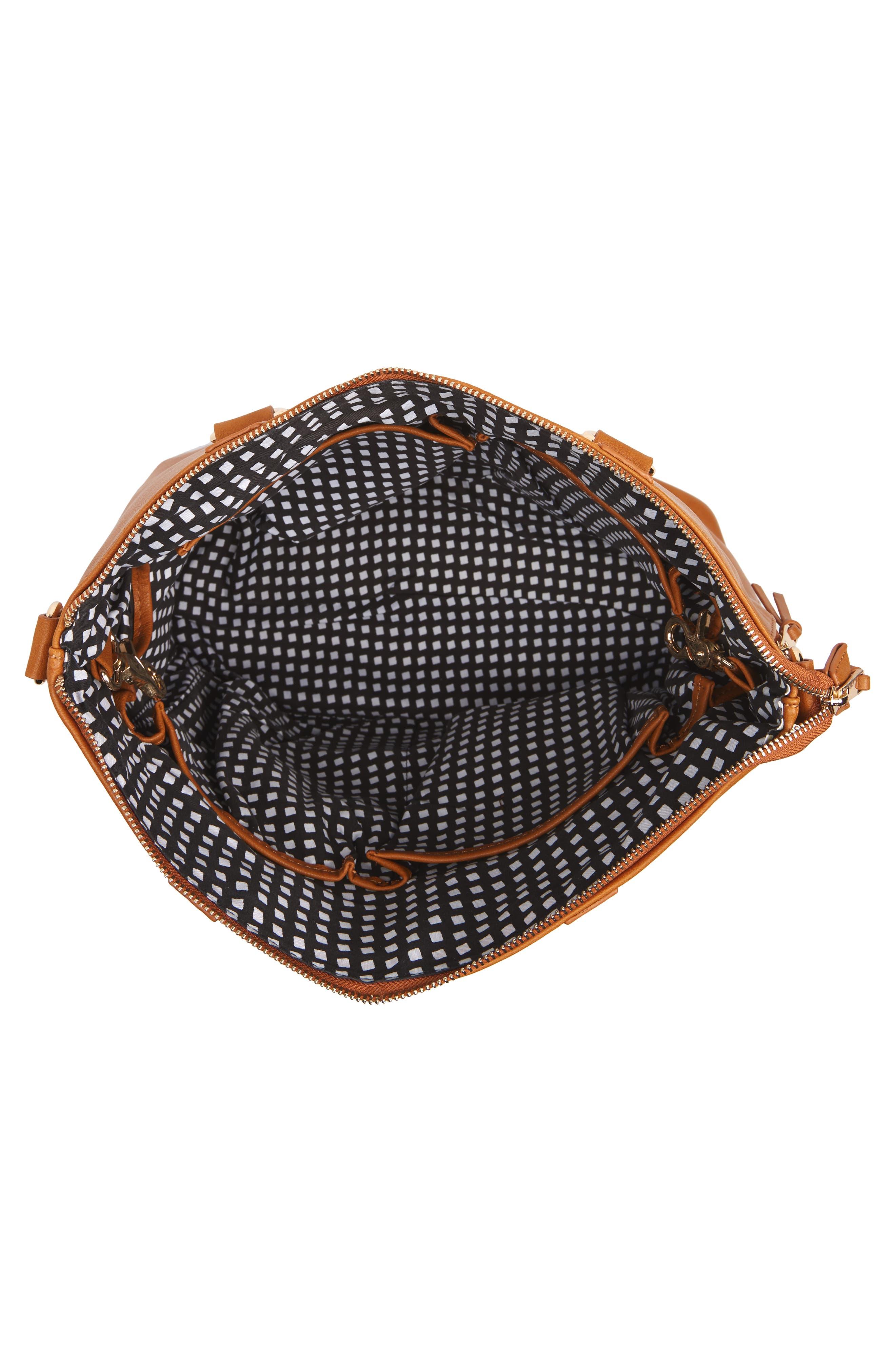 Boss Bag Convertible Diaper Backpack,                             Alternate thumbnail 5, color,                             Cognac