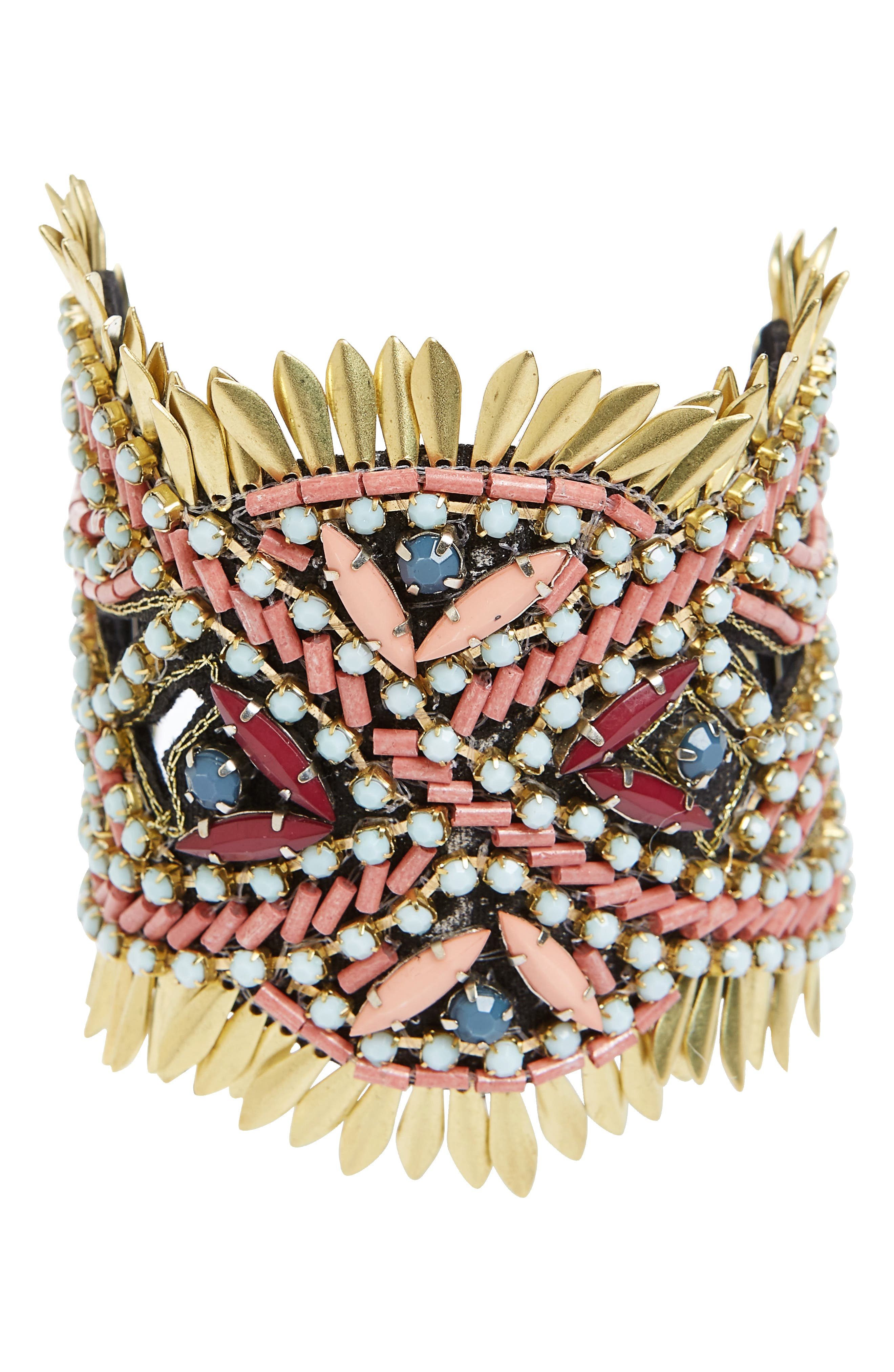 Panacea Beaded Statement Bracelet