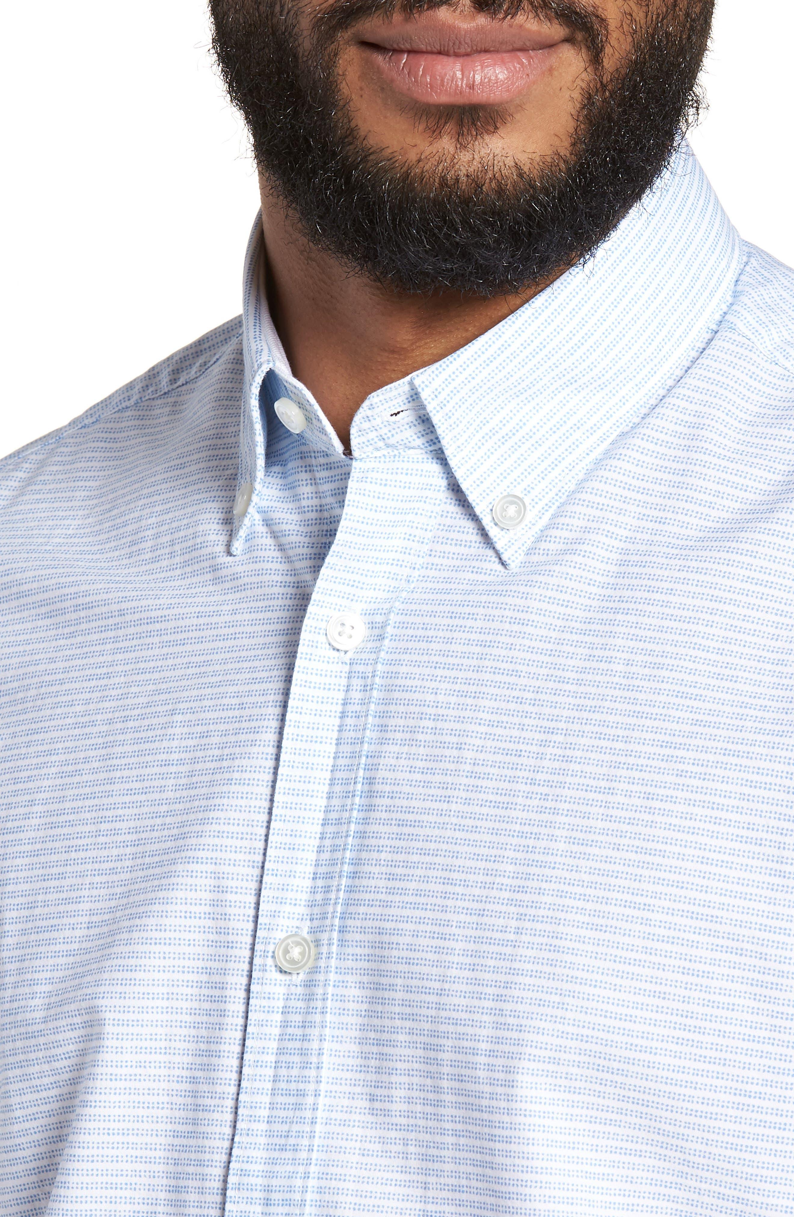 Lodi Slim Fit Stripe Sport Shirt,                             Alternate thumbnail 2, color,                             Light Blue