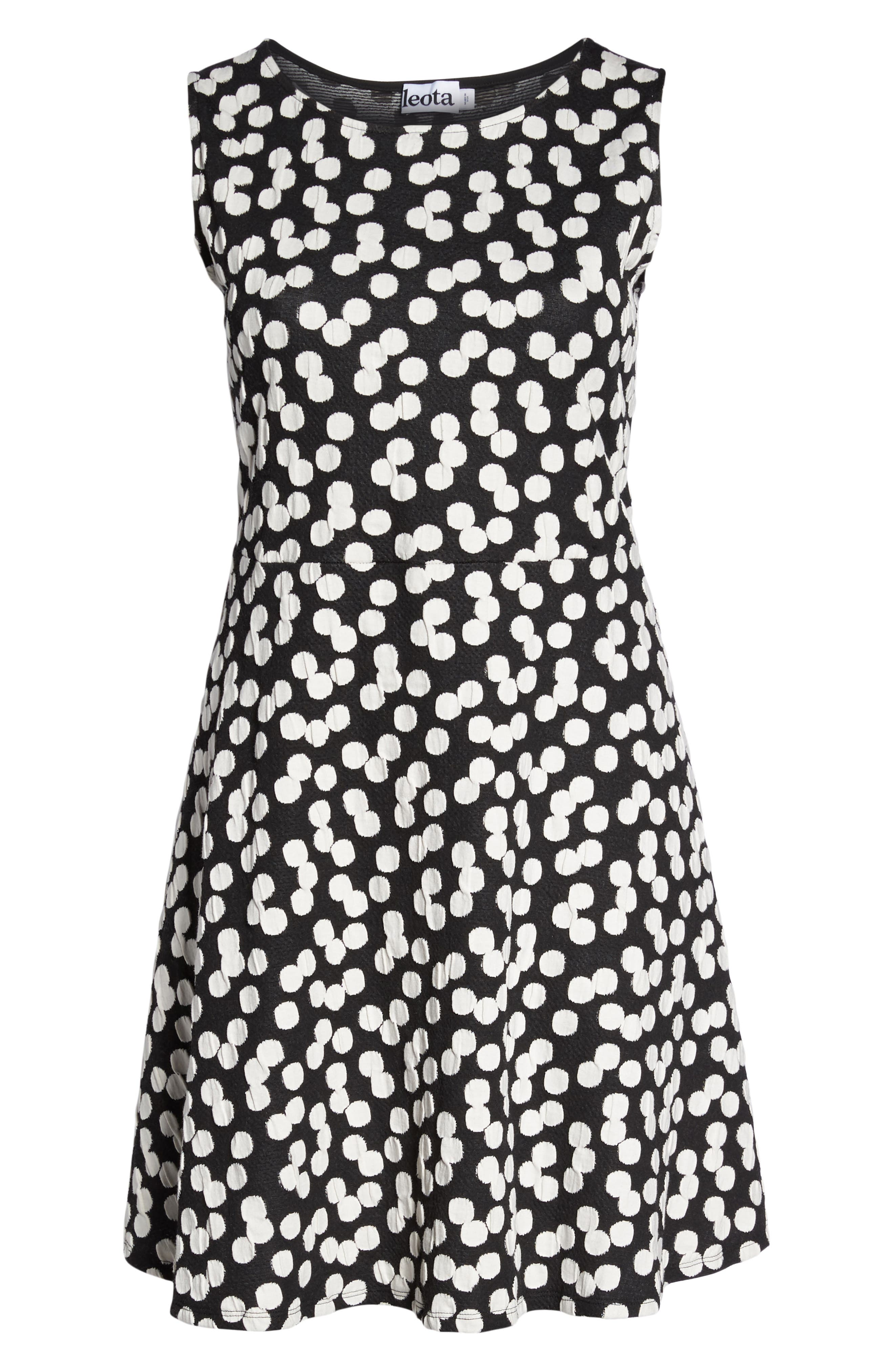 Ava Fit & Flare Dress,                             Alternate thumbnail 7, color,                             Cluster Dot