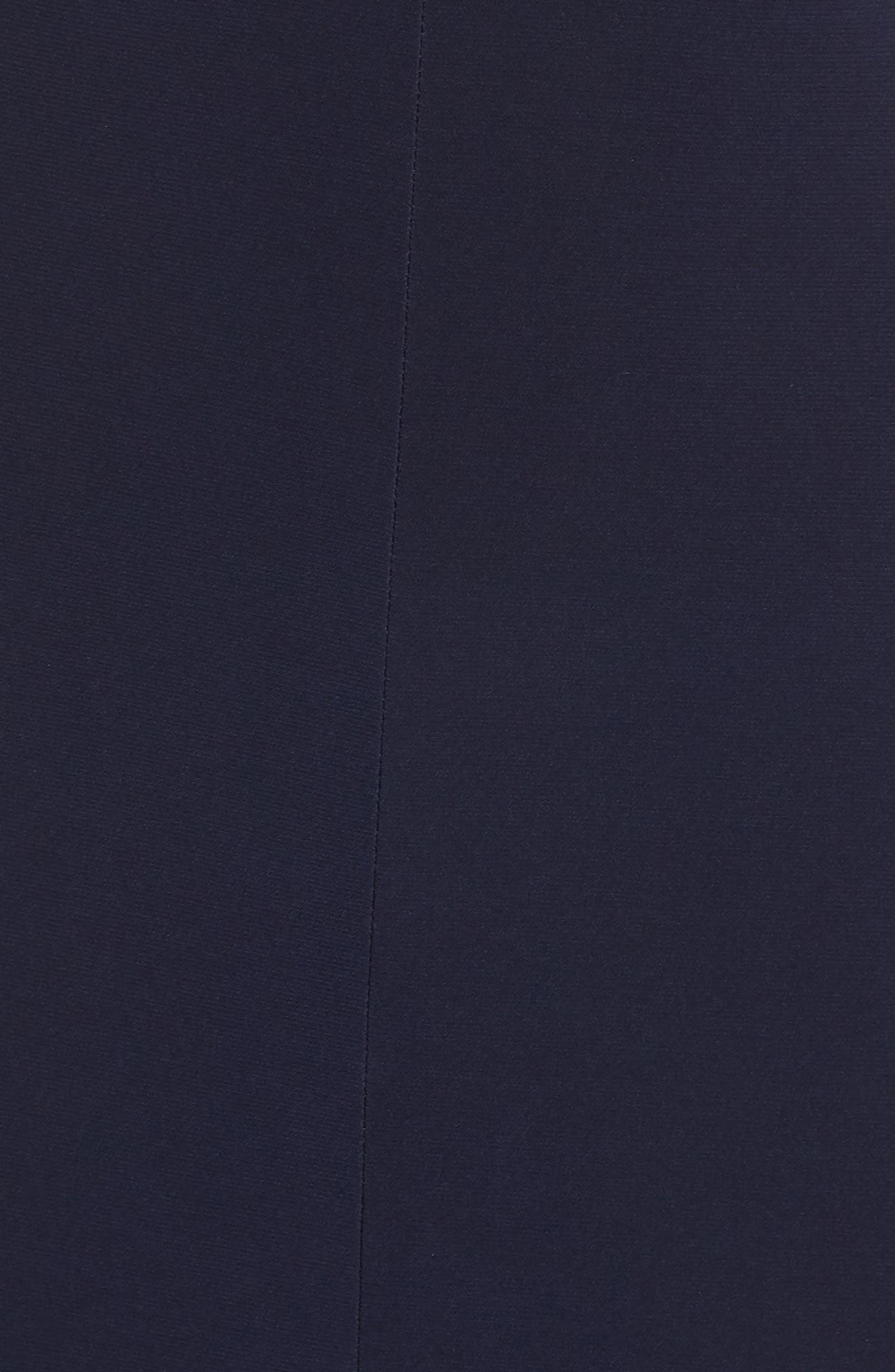 Cold Shoulder Gown,                             Alternate thumbnail 5, color,                             Navy