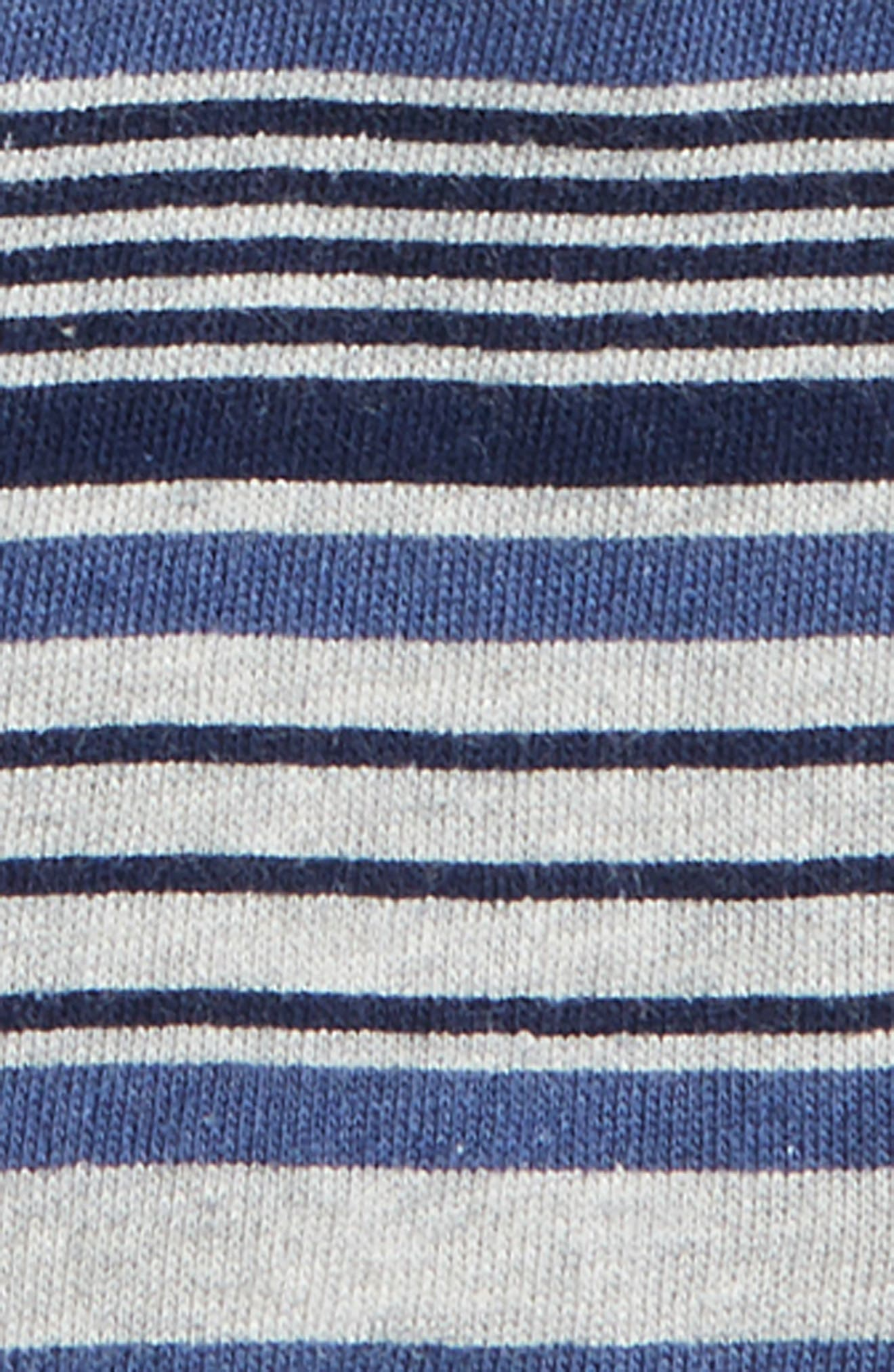 Slub Henley T-Shirt & Stripe French Terry Shorts Set,                             Alternate thumbnail 2, color,                             Indigo Sky