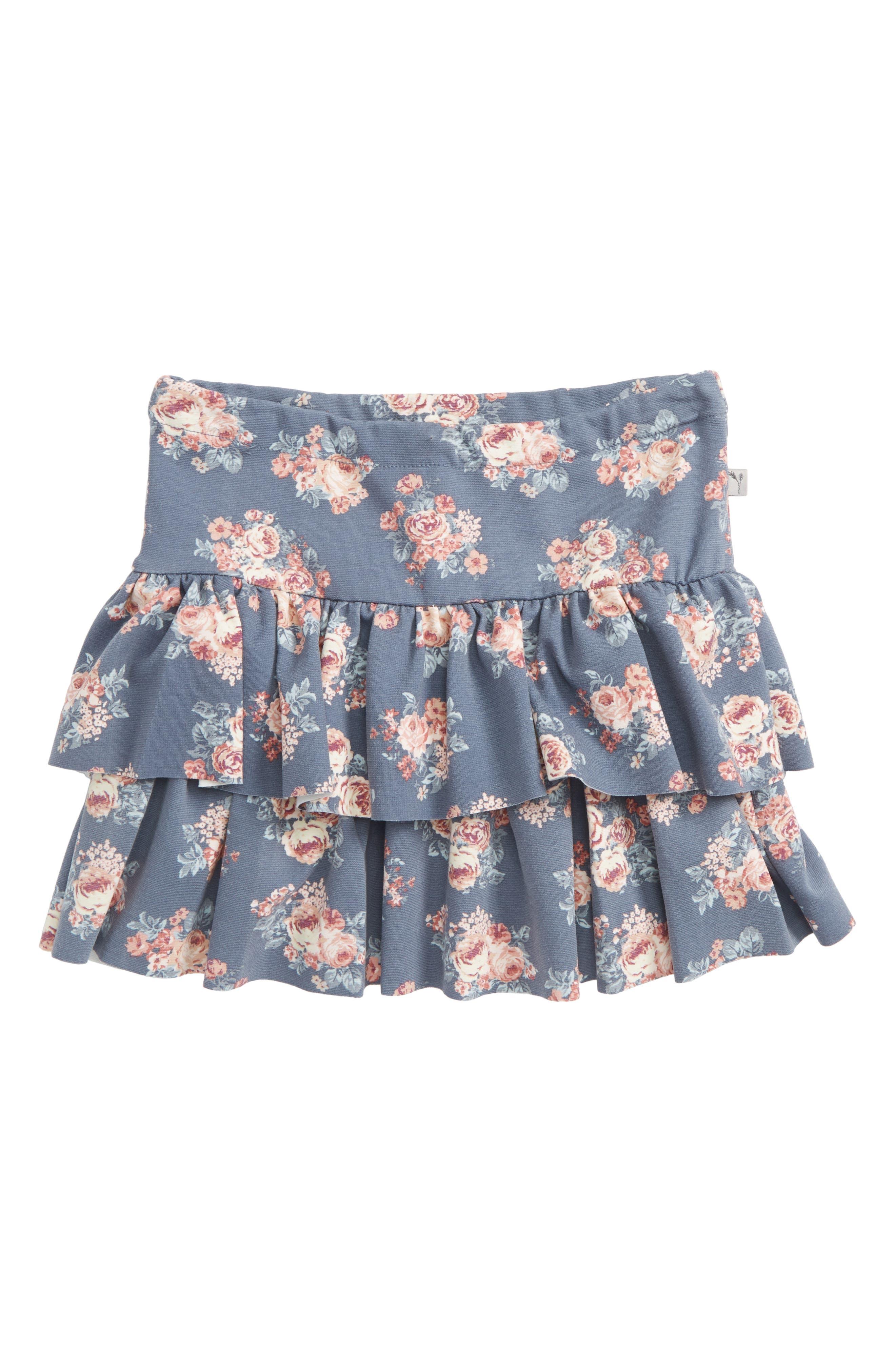 Jersey Ruffle Skirt,                             Main thumbnail 1, color,                             Grey