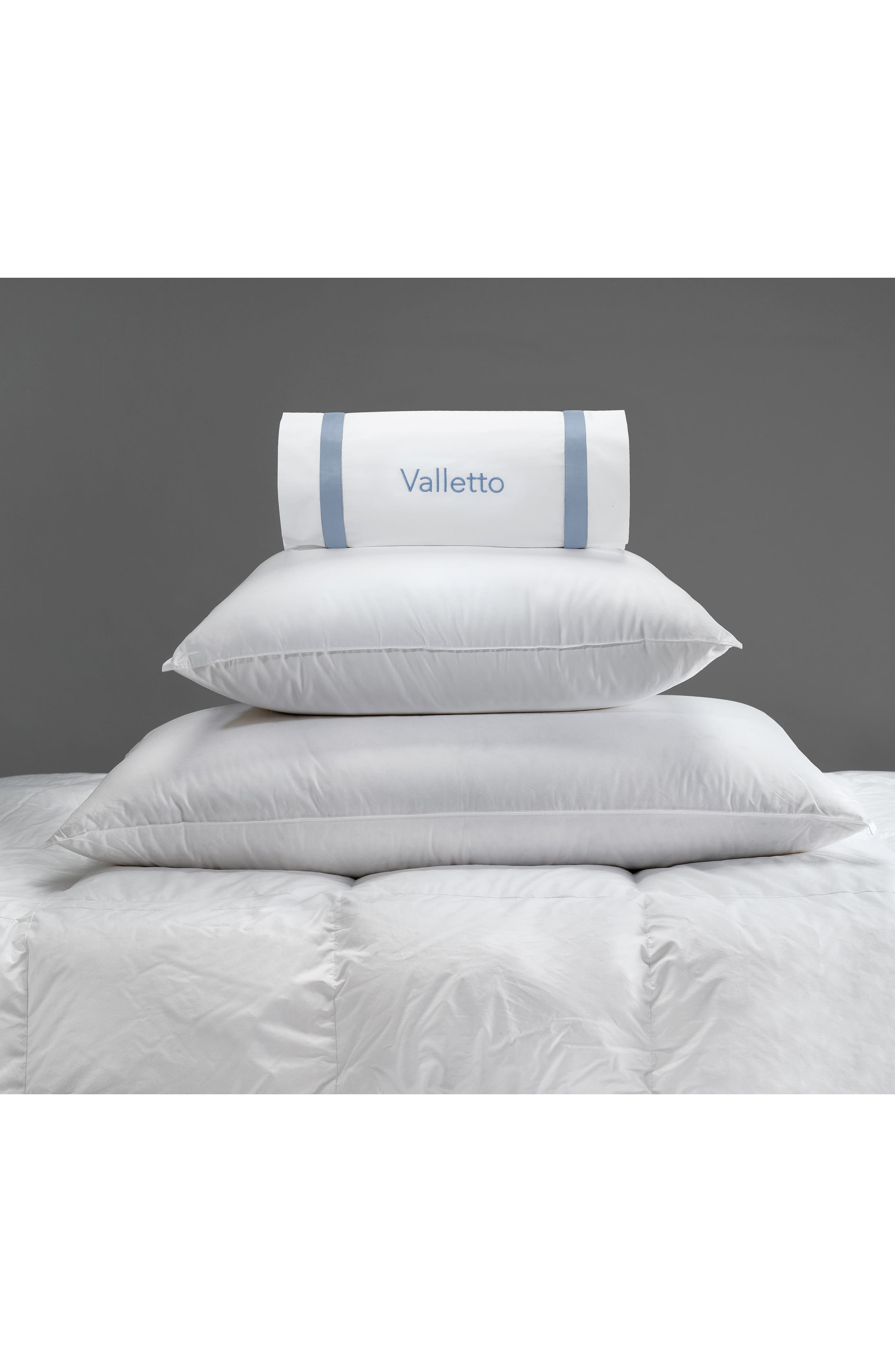 Valletto Firm 650 Fill Power Down 400 Thread Count Pillow,                             Alternate thumbnail 2, color,                             White