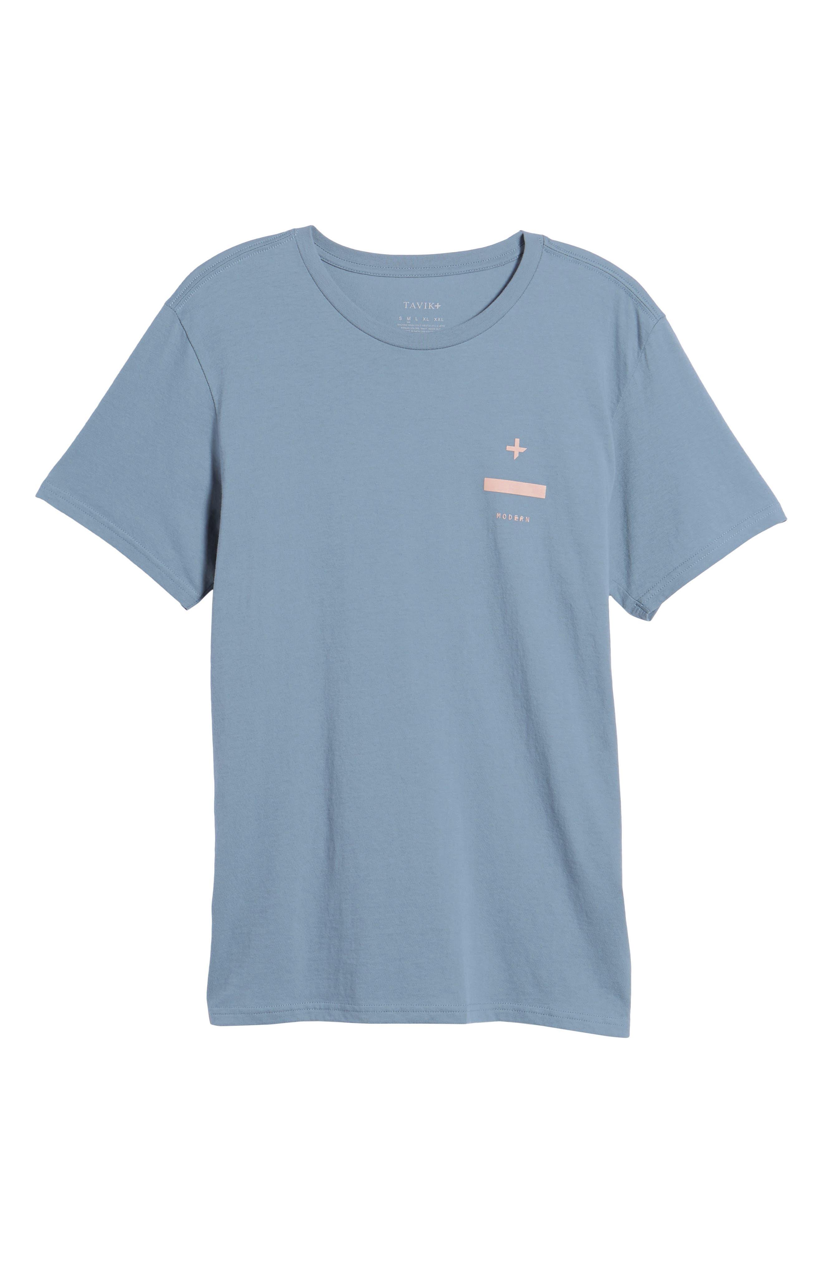 Nove Graphic T-Shirt,                             Alternate thumbnail 4, color,                             Prison Blue