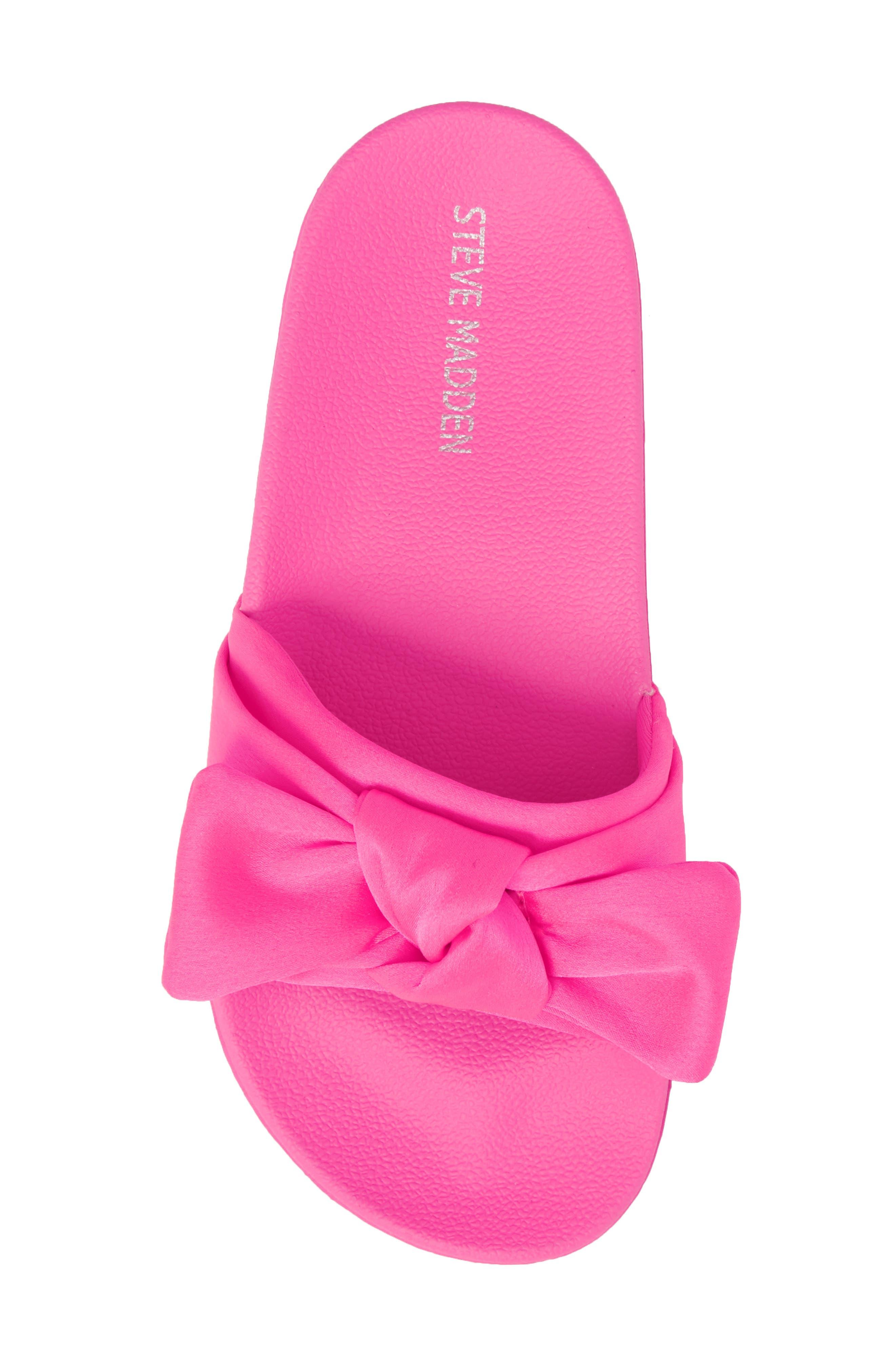 JSilky Slide Sandal,                             Alternate thumbnail 5, color,                             Hot Pink