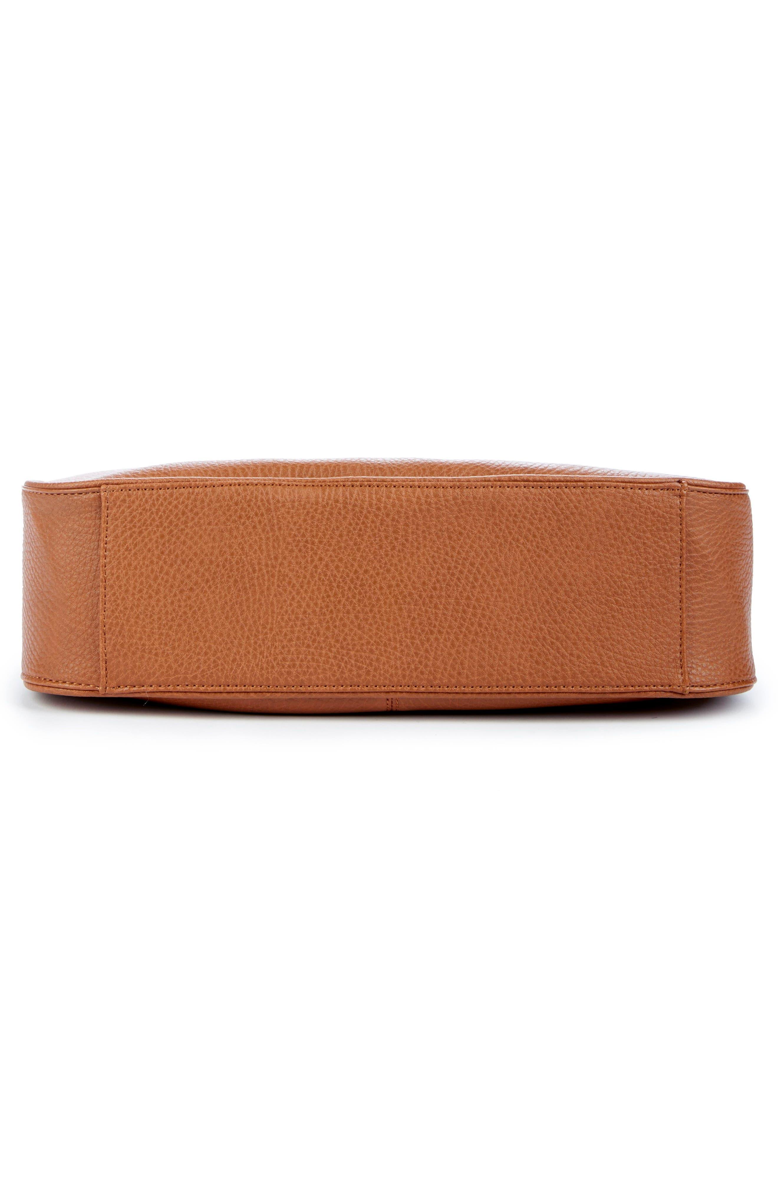 Sarafina Faux Leather Shoulder Bag,                             Alternate thumbnail 5, color,                             Cognac