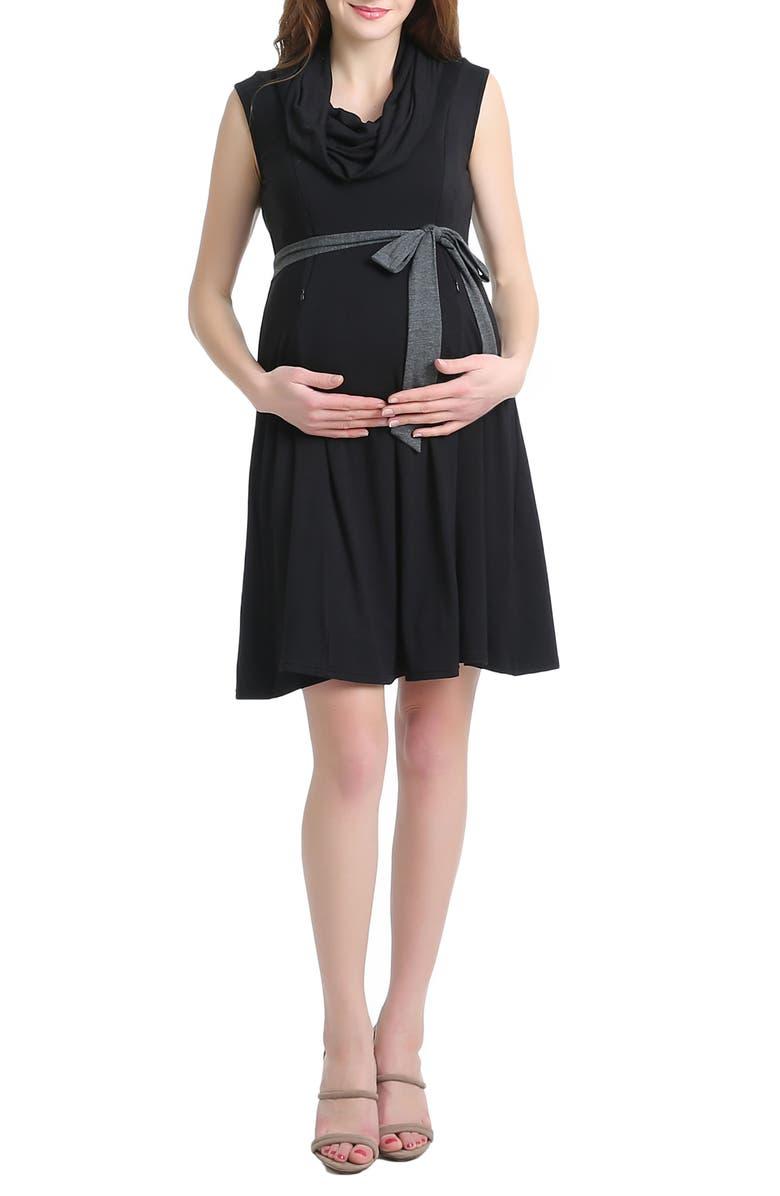 Megan Cowl Neck Maternity/Nursing Dress