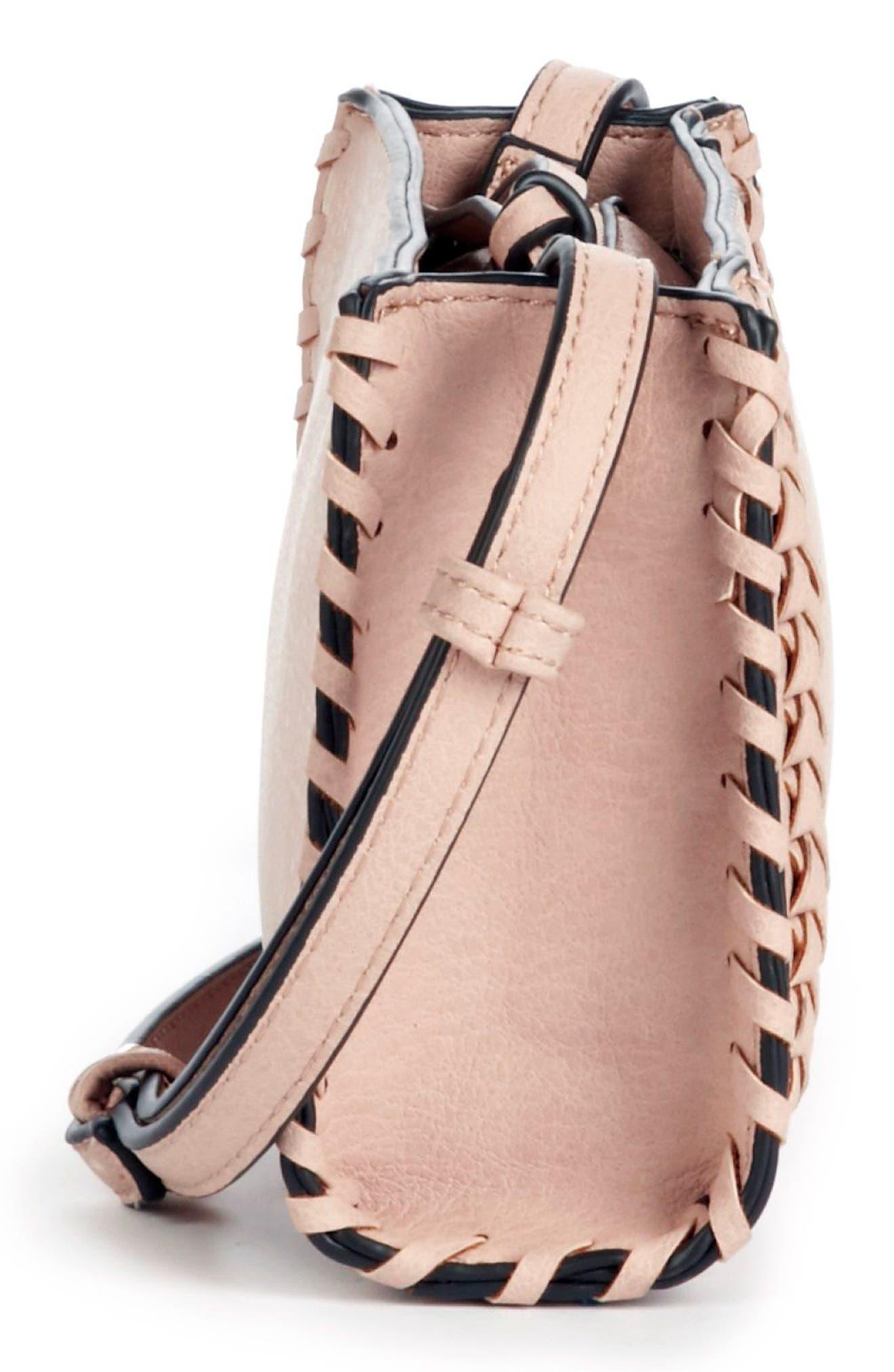 Destin Faux Leather Crossbody Bag,                             Alternate thumbnail 5, color,                             Blush