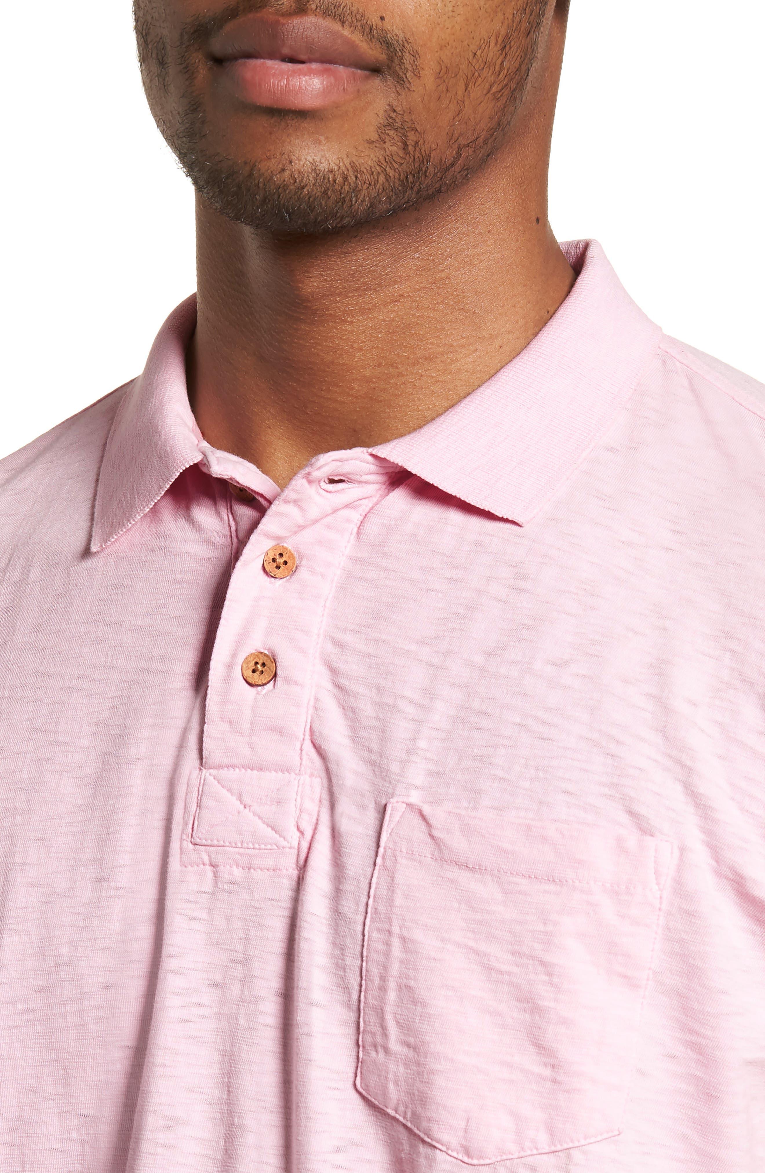 Slub Polo,                             Alternate thumbnail 4, color,                             Pink