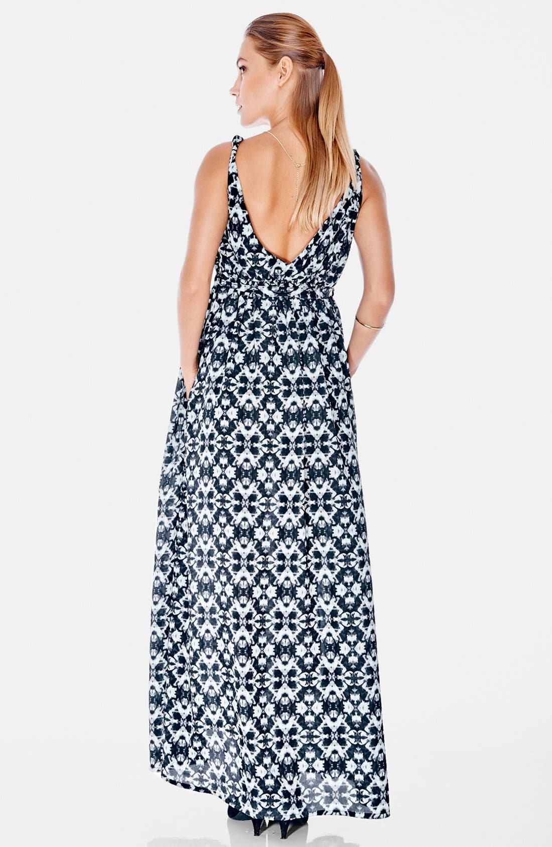 Maxi Maternity Dress,                             Alternate thumbnail 2, color,                             Kaleidoscope Print