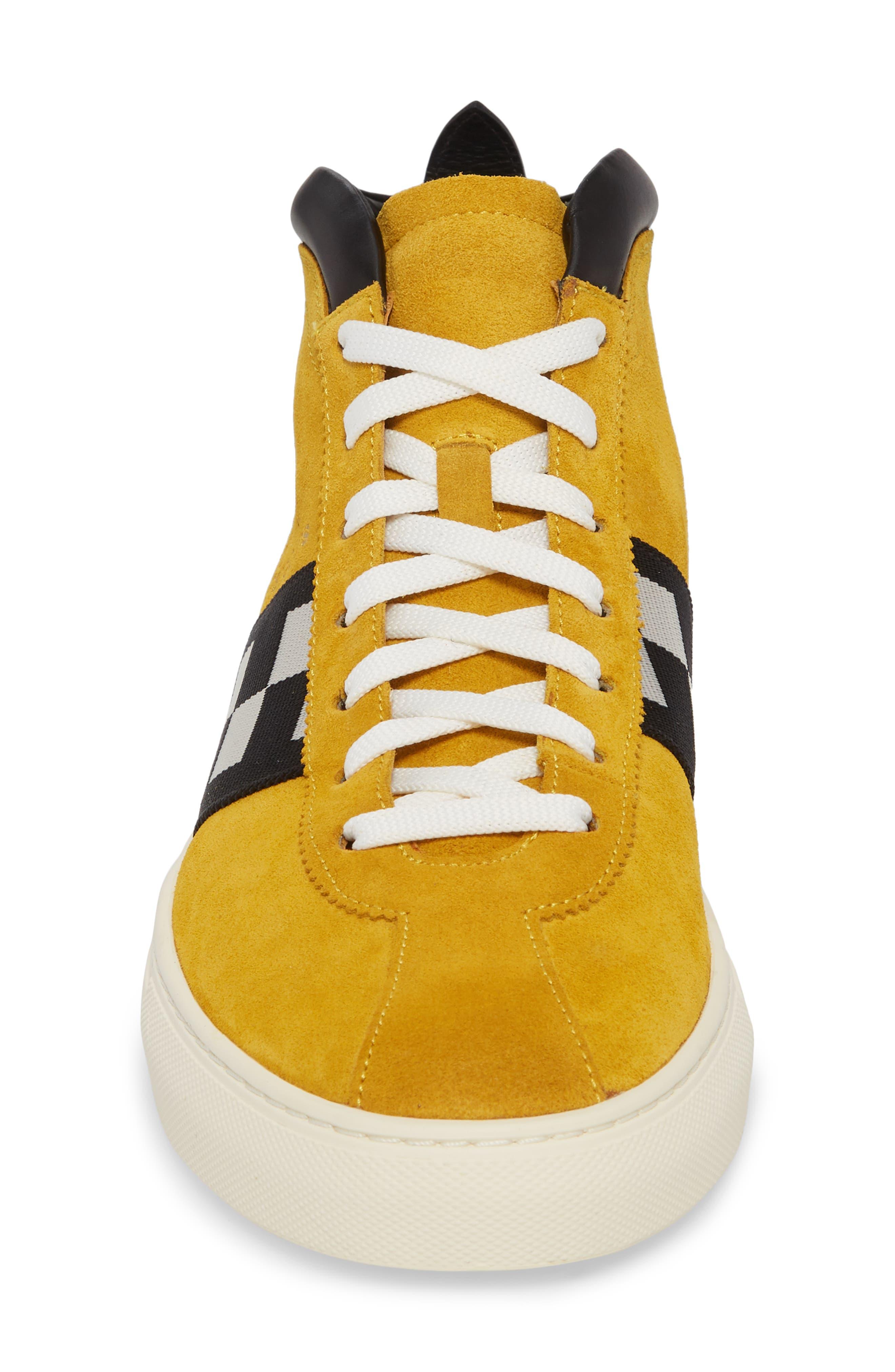 Alternate Image 4  - Bally Vita Checkered High Top Sneaker (Men)