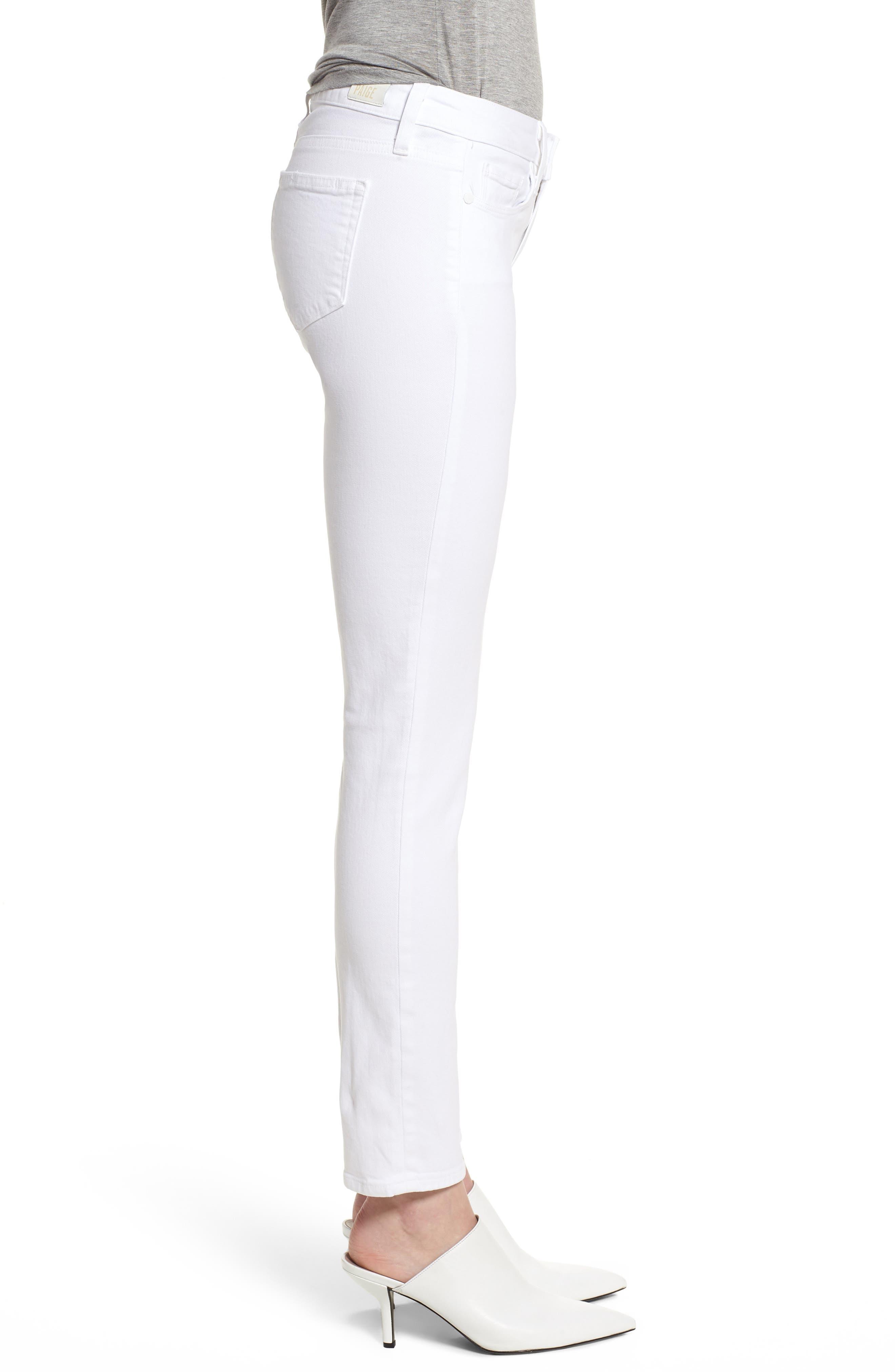 Skyline Ankle Peg Skinny Jeans,                             Alternate thumbnail 3, color,                             Crisp White