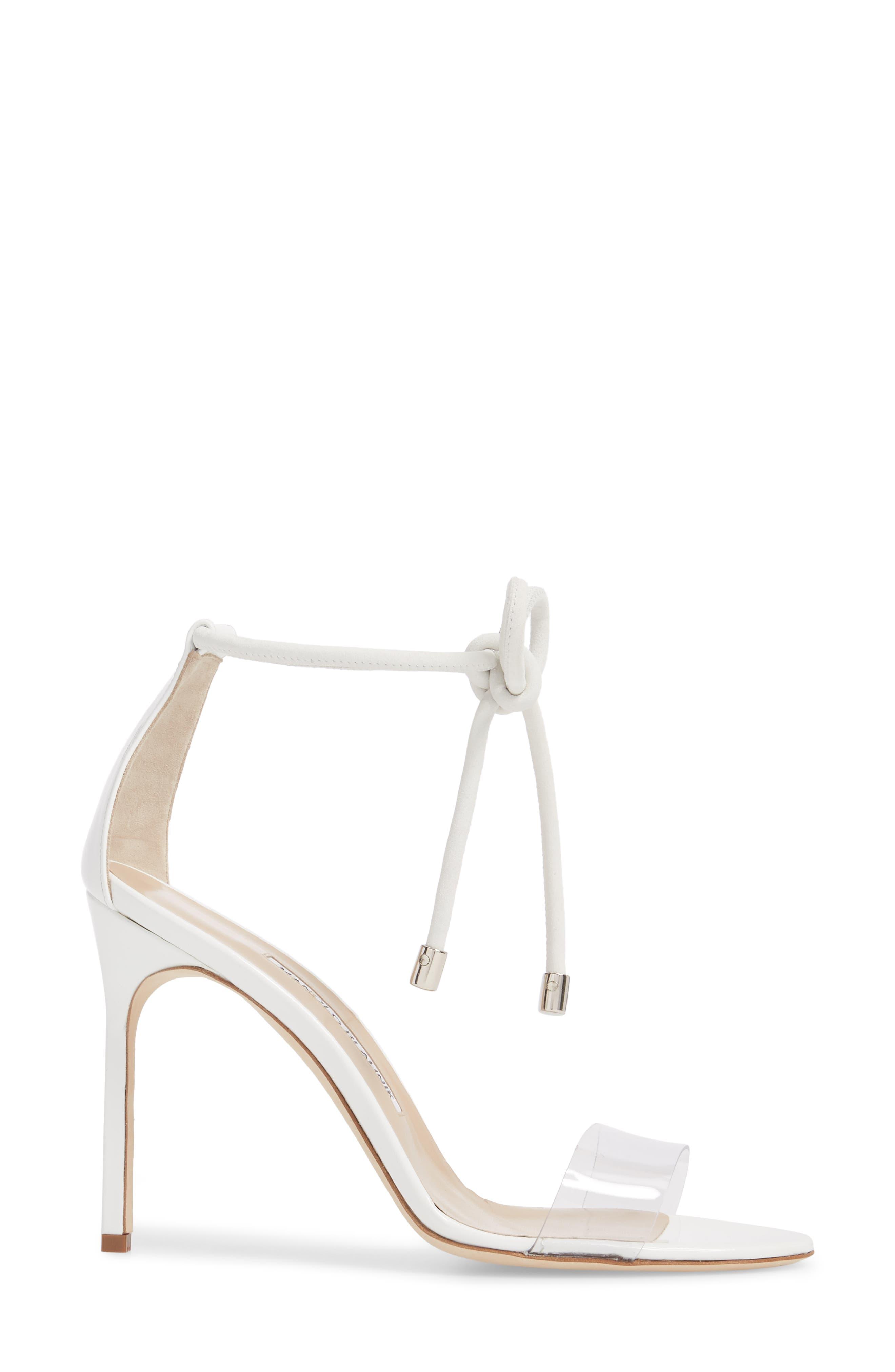 Estro Ankle Tie Sandal,                             Alternate thumbnail 3, color,                             White Patent