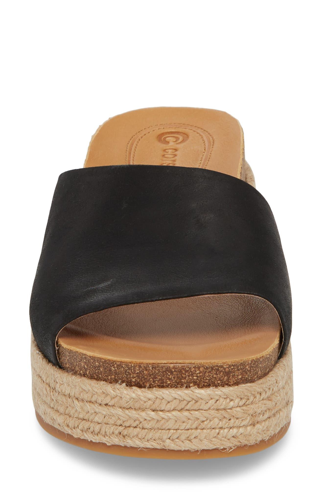 Candice Sandal,                             Alternate thumbnail 4, color,                             Black Leather