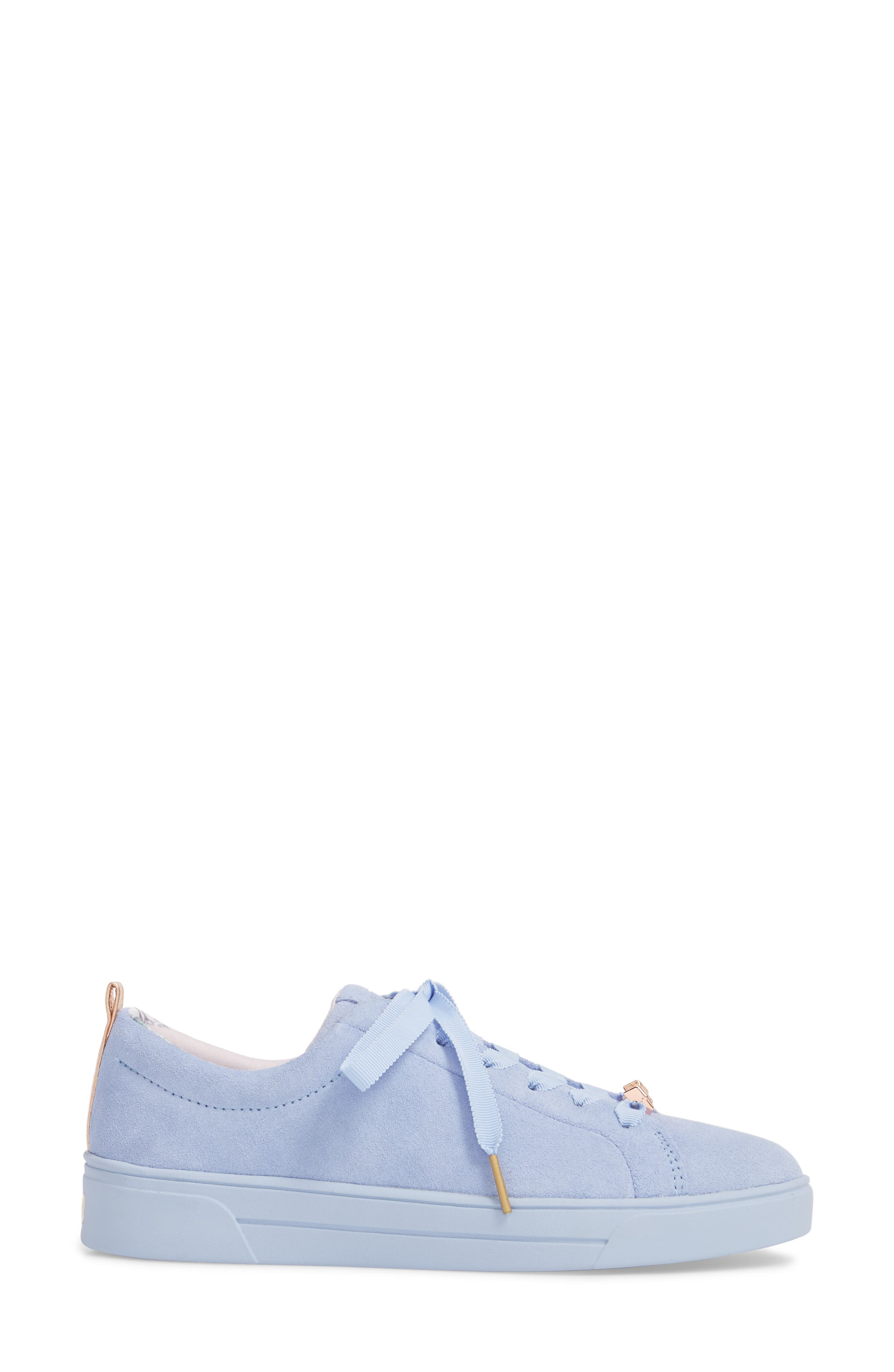 Kelleis Sneaker,                             Alternate thumbnail 3, color,                             Light Blue Suede