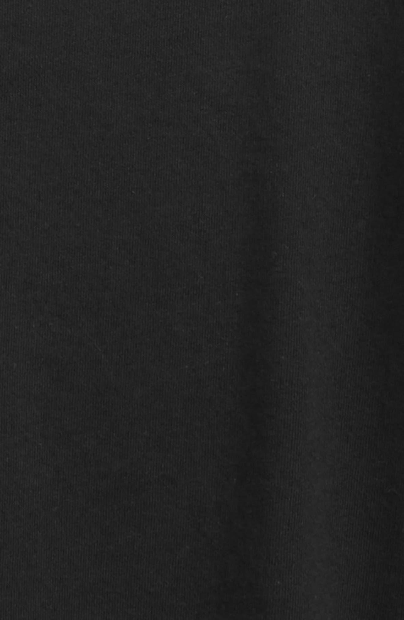 Raw Edge Fleece T-Shirt,                             Alternate thumbnail 2, color,                             Black