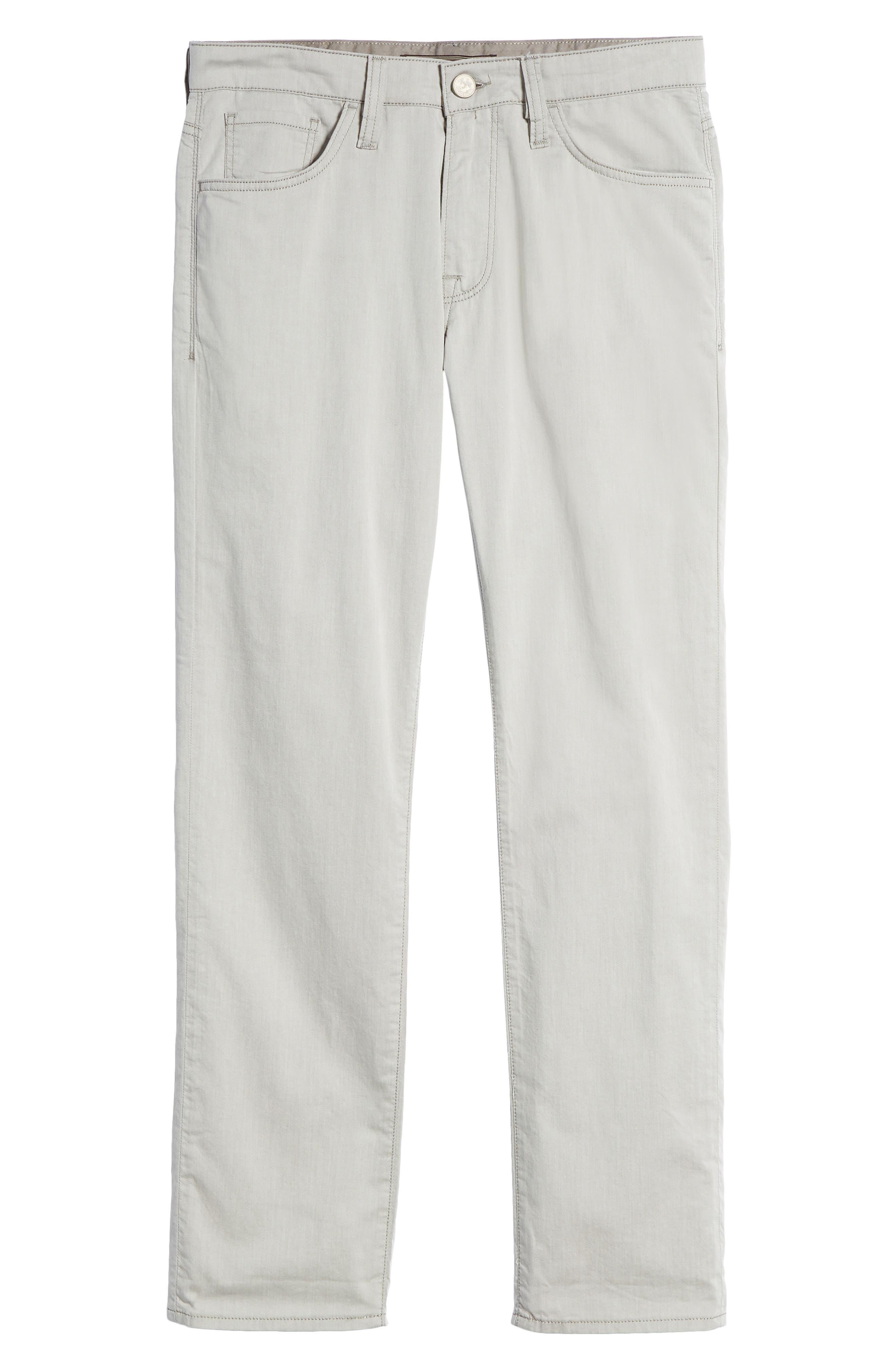Courage Straight Leg Jeans,                             Alternate thumbnail 6, color,                             Latte Herringbone Reversed