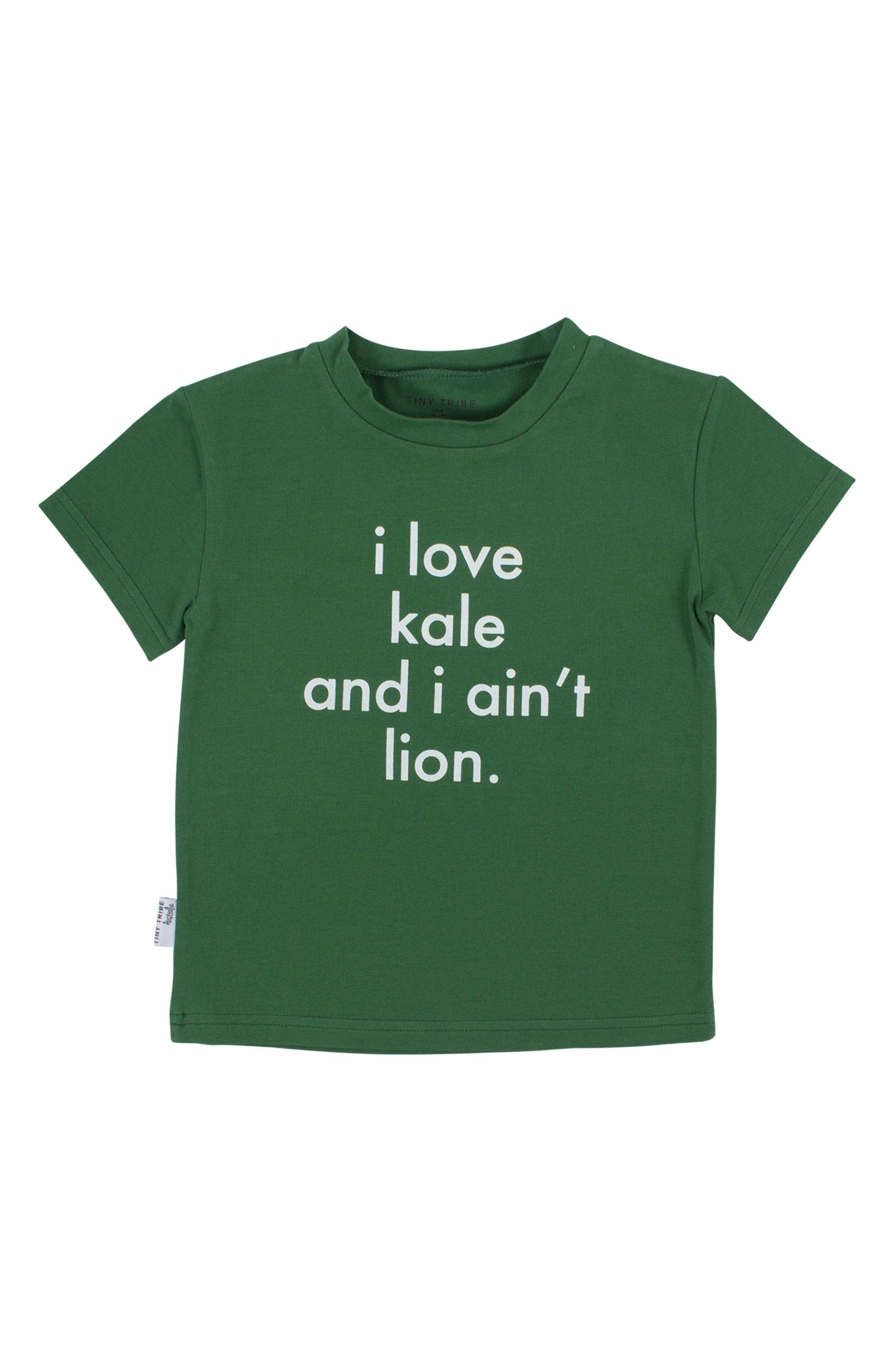 I Love Kale Graphic T-Shirt,                             Main thumbnail 1, color,                             Green
