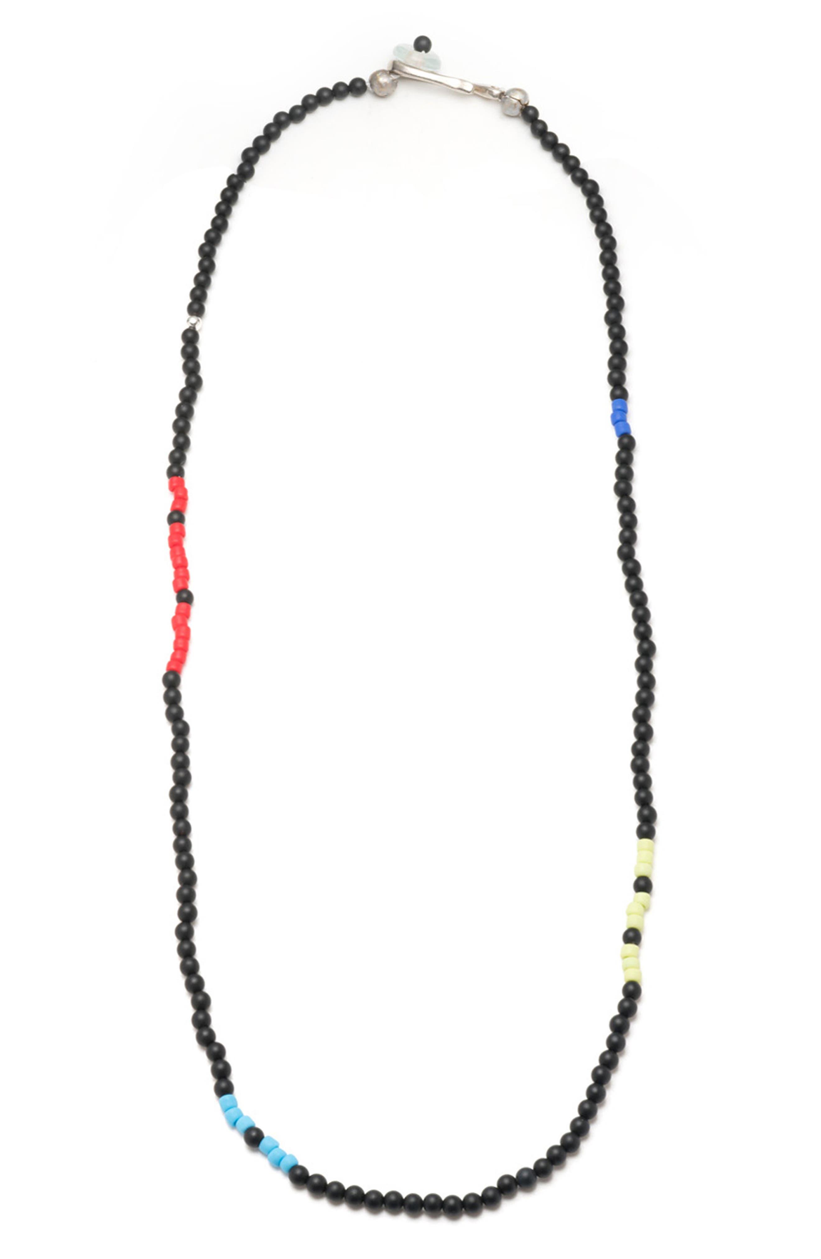 Wise Morse Necklace,                             Main thumbnail 1, color,                             Black/ Multi