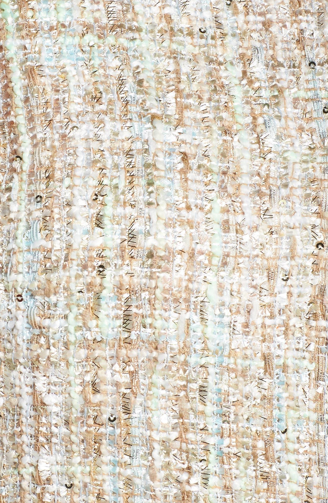 Metallic Tweed Jacket,                             Alternate thumbnail 6, color,                             White