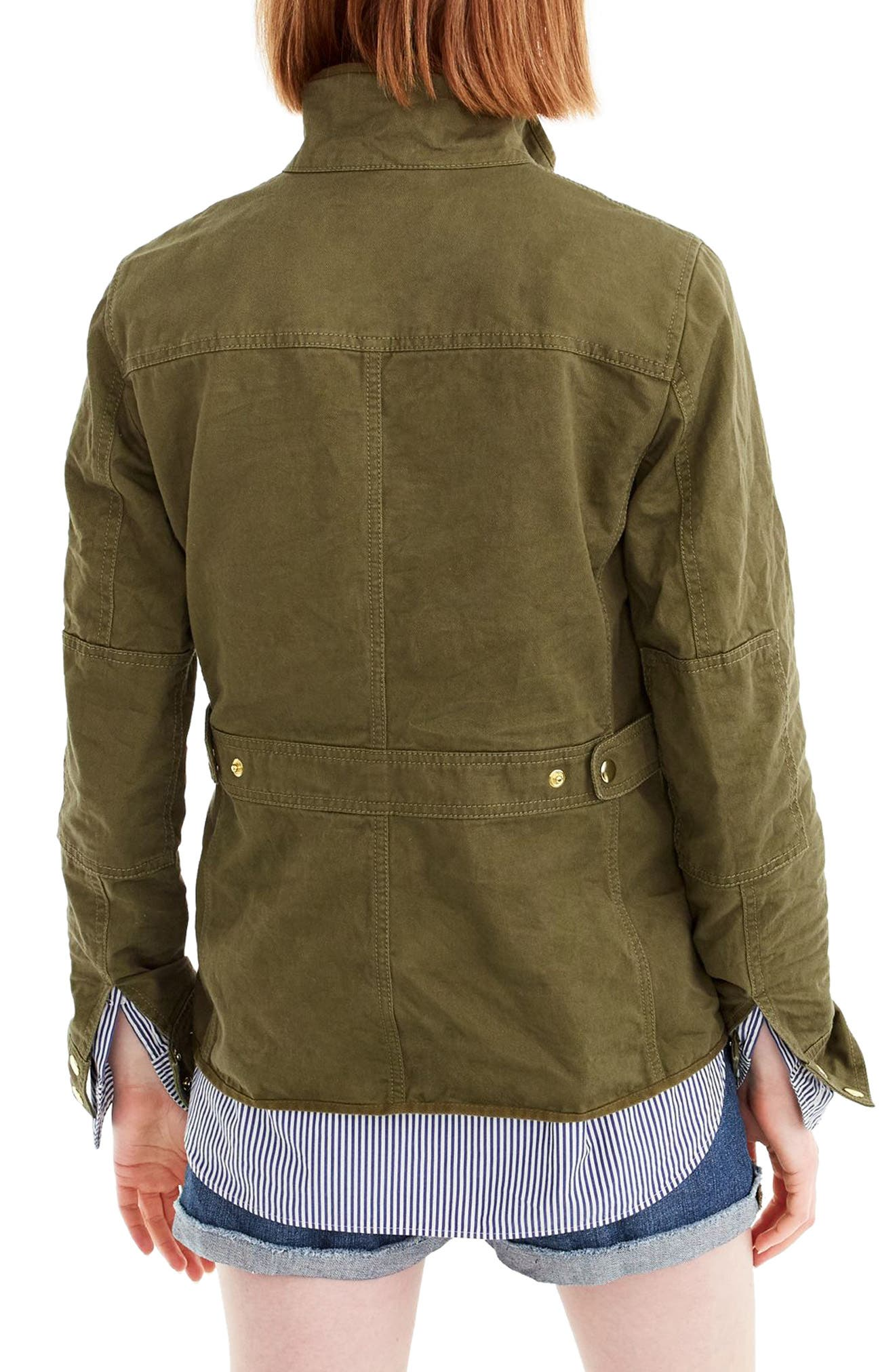 Uncoated Downtown Field Jacket,                             Alternate thumbnail 2, color,                             Tuscan Olive