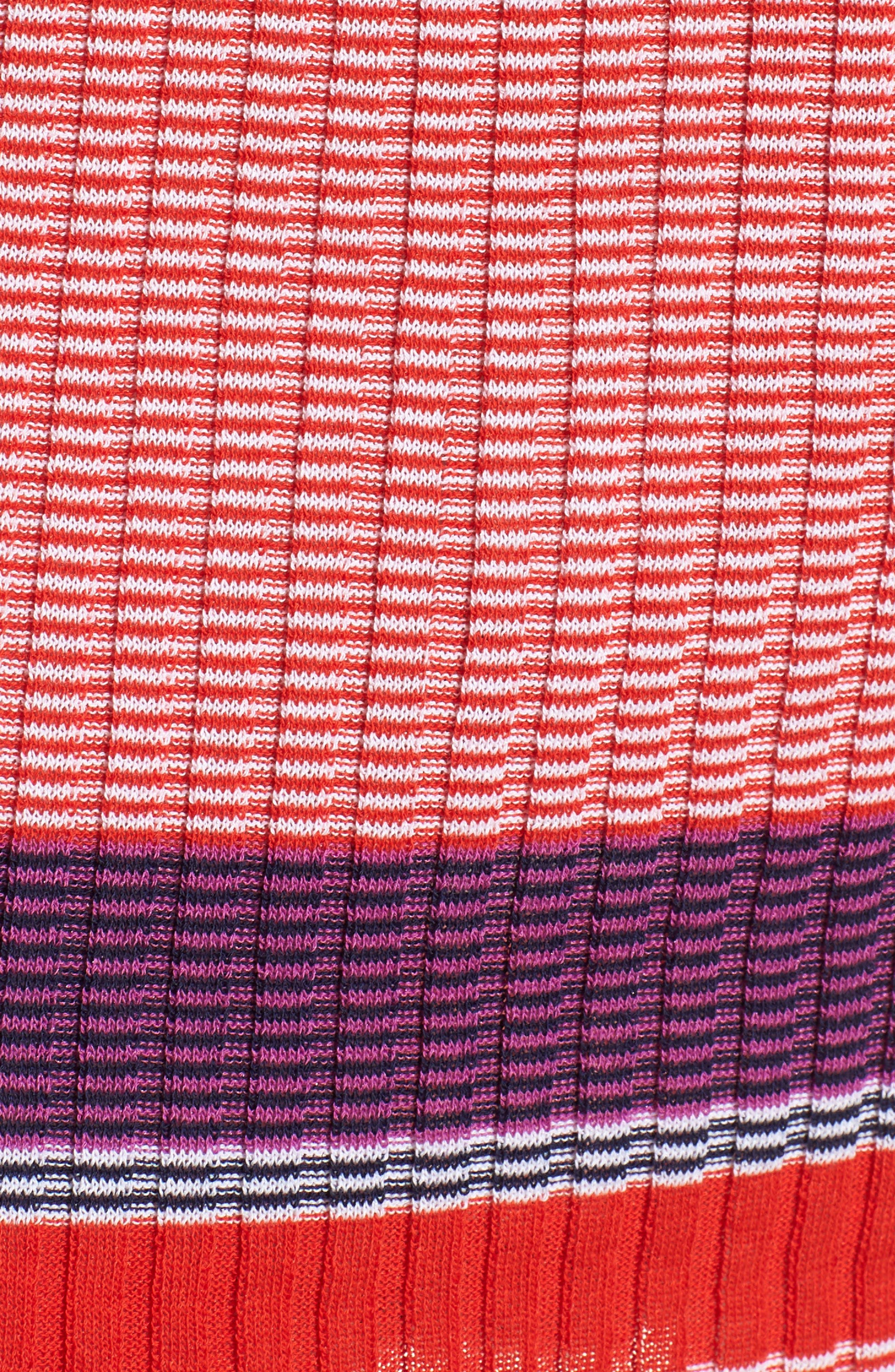 Fantonia Stripe Knit Sheath Dress,                             Alternate thumbnail 6, color,                             Black Fantasy