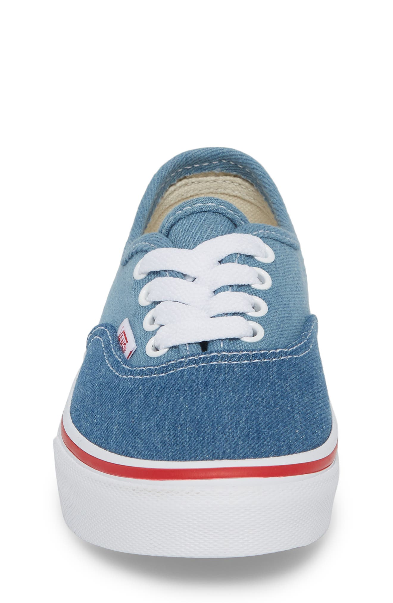 Authentic Sneaker,                             Alternate thumbnail 4, color,                             Blue/ White Denim Two-Tone