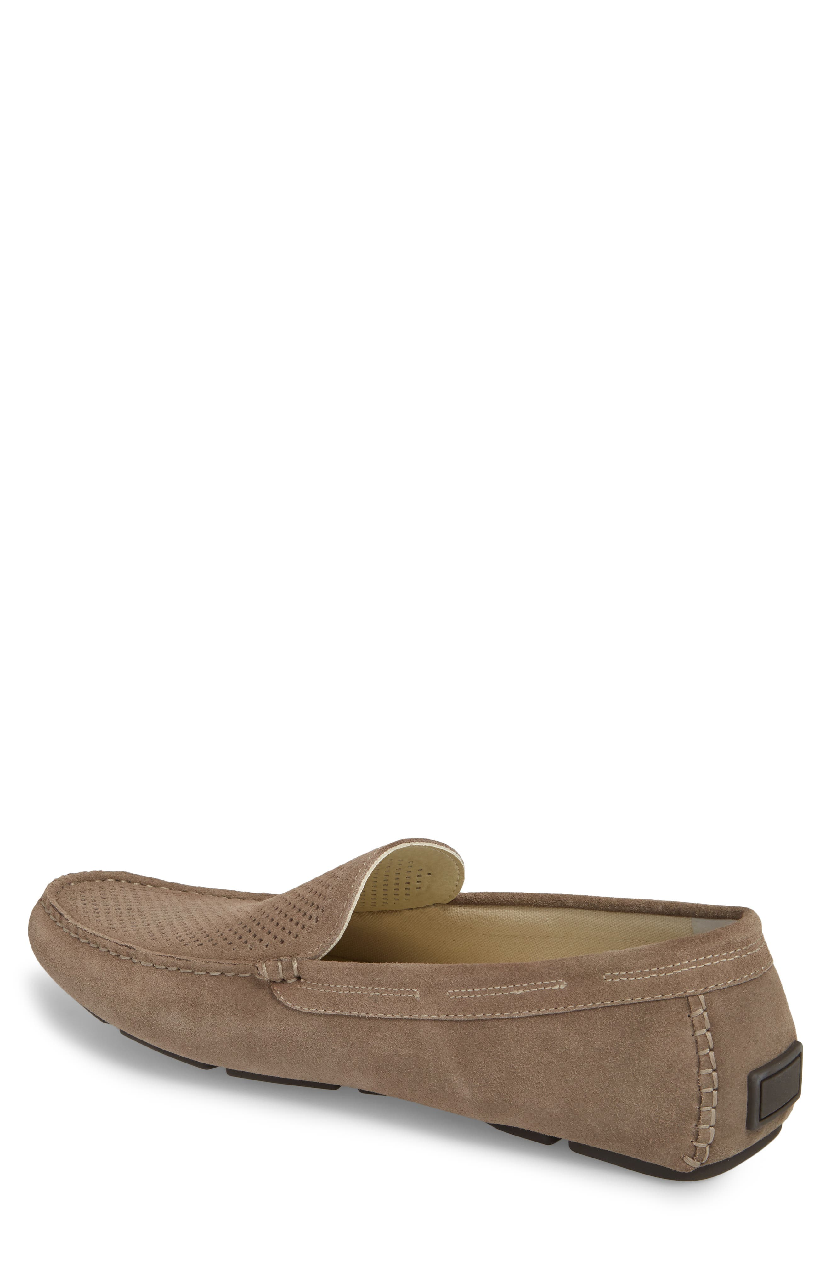 Scottsdale Perforated Driving Moccasin,                             Alternate thumbnail 2, color,                             Grey Suede