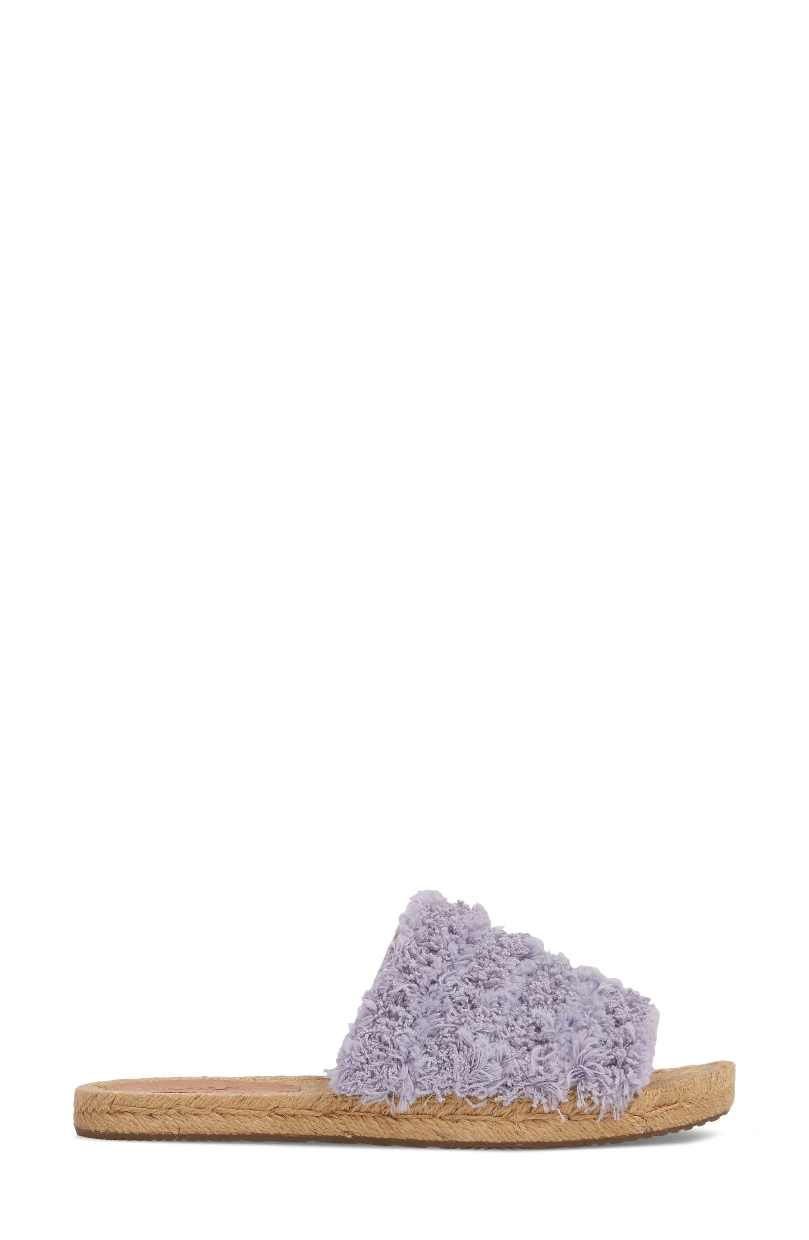 Edith Slide Sandal,                             Alternate thumbnail 3, color,                             Lavender Fog
