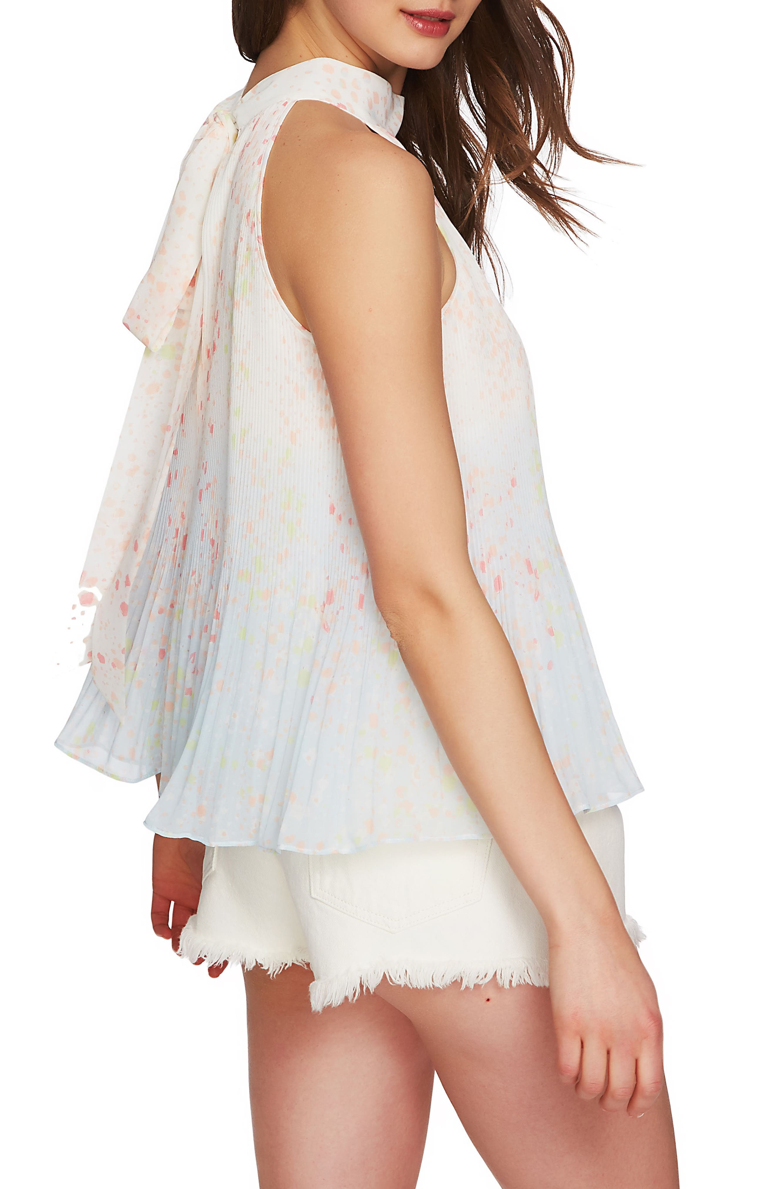 Pleated Top,                             Alternate thumbnail 3, color,                             New Ivory