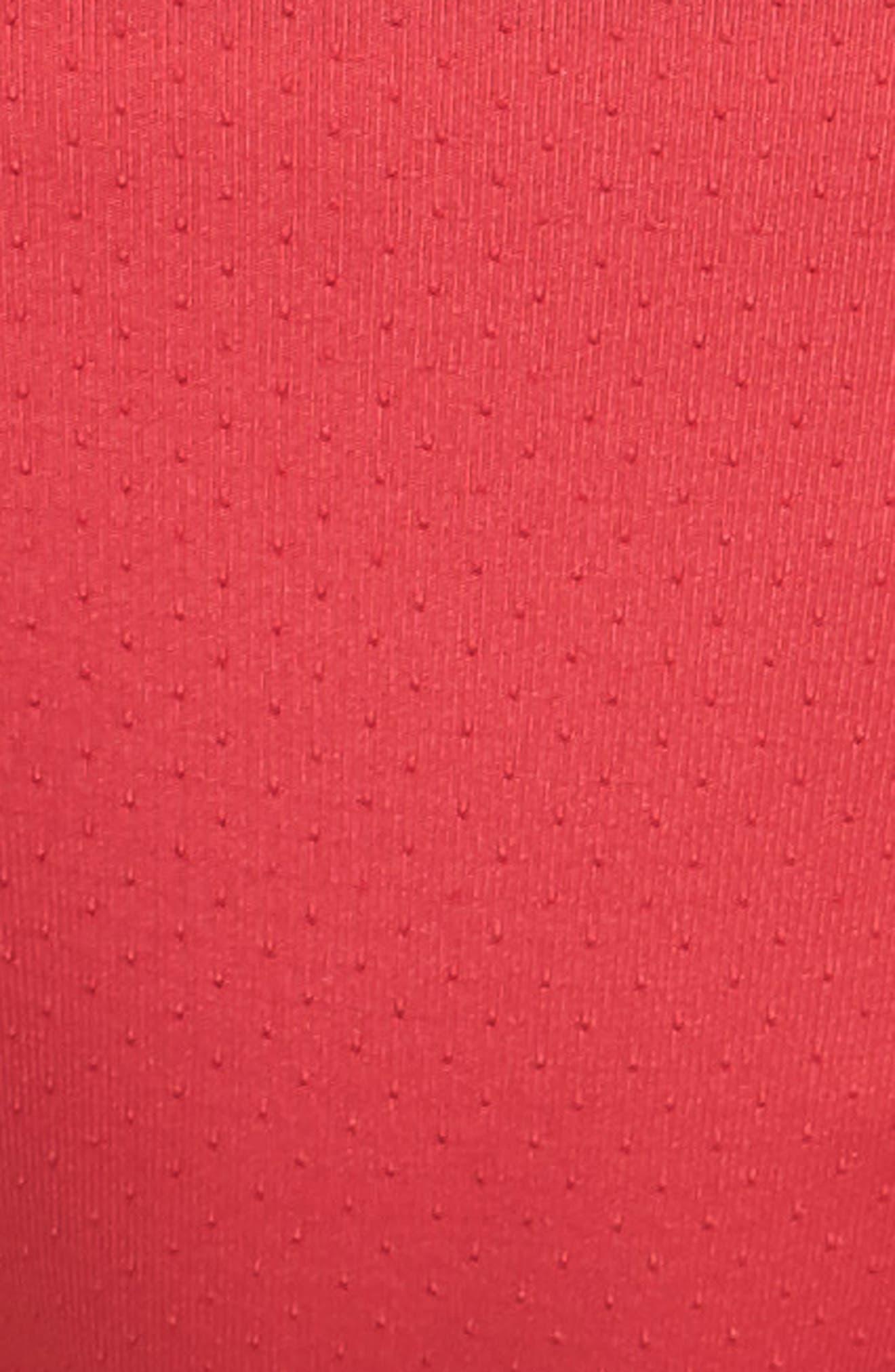 Mesh Active Bikini,                             Alternate thumbnail 5, color,                             Red Hibiscus
