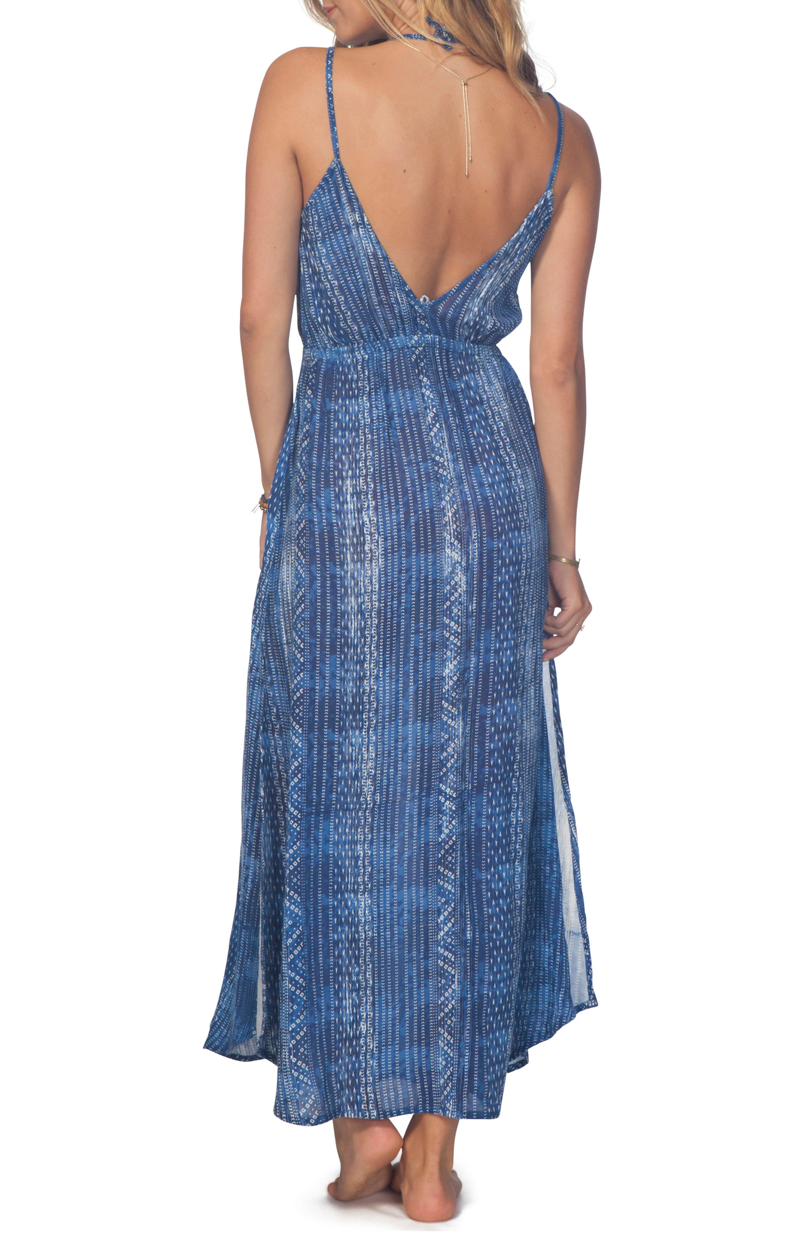 Blue Tides Maxi Dress,                             Alternate thumbnail 2, color,                             Blue
